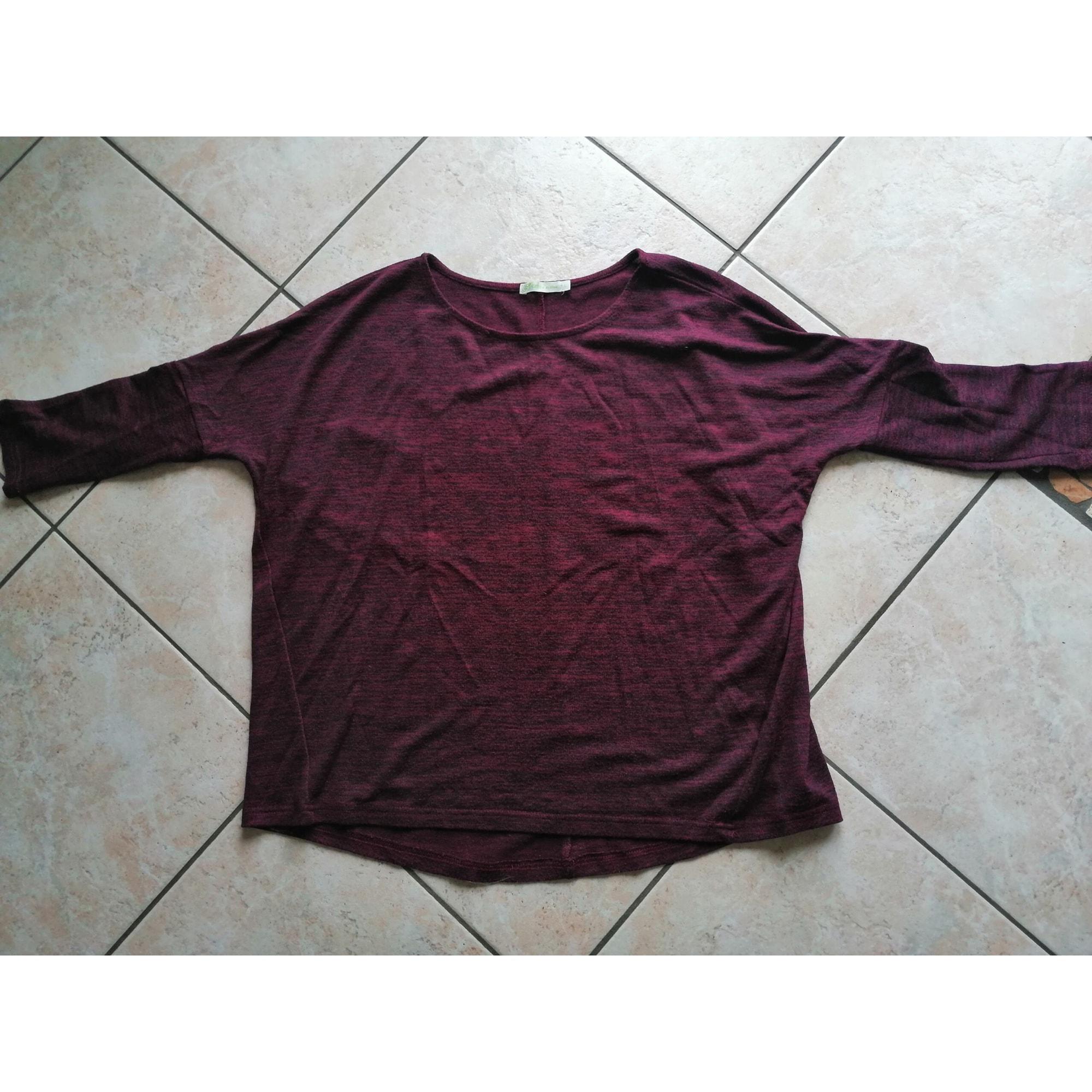 Top, tee-shirt GÉMO Rouge, bordeaux