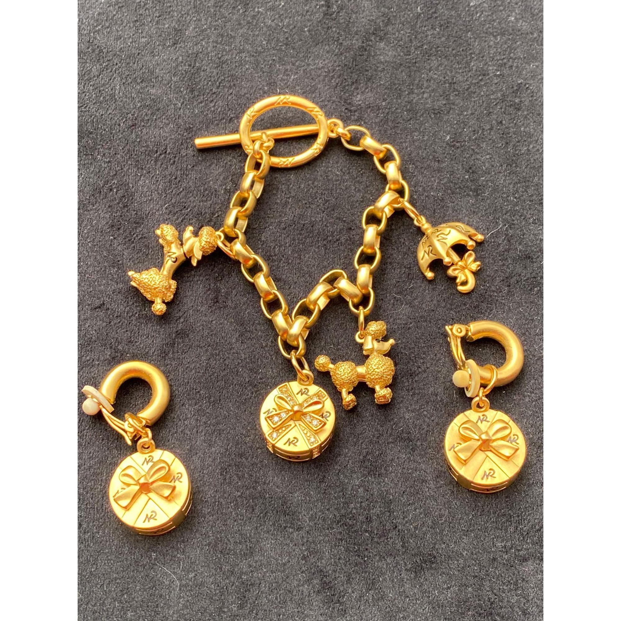 Bracelet NINA RICCI Doré, bronze, cuivre