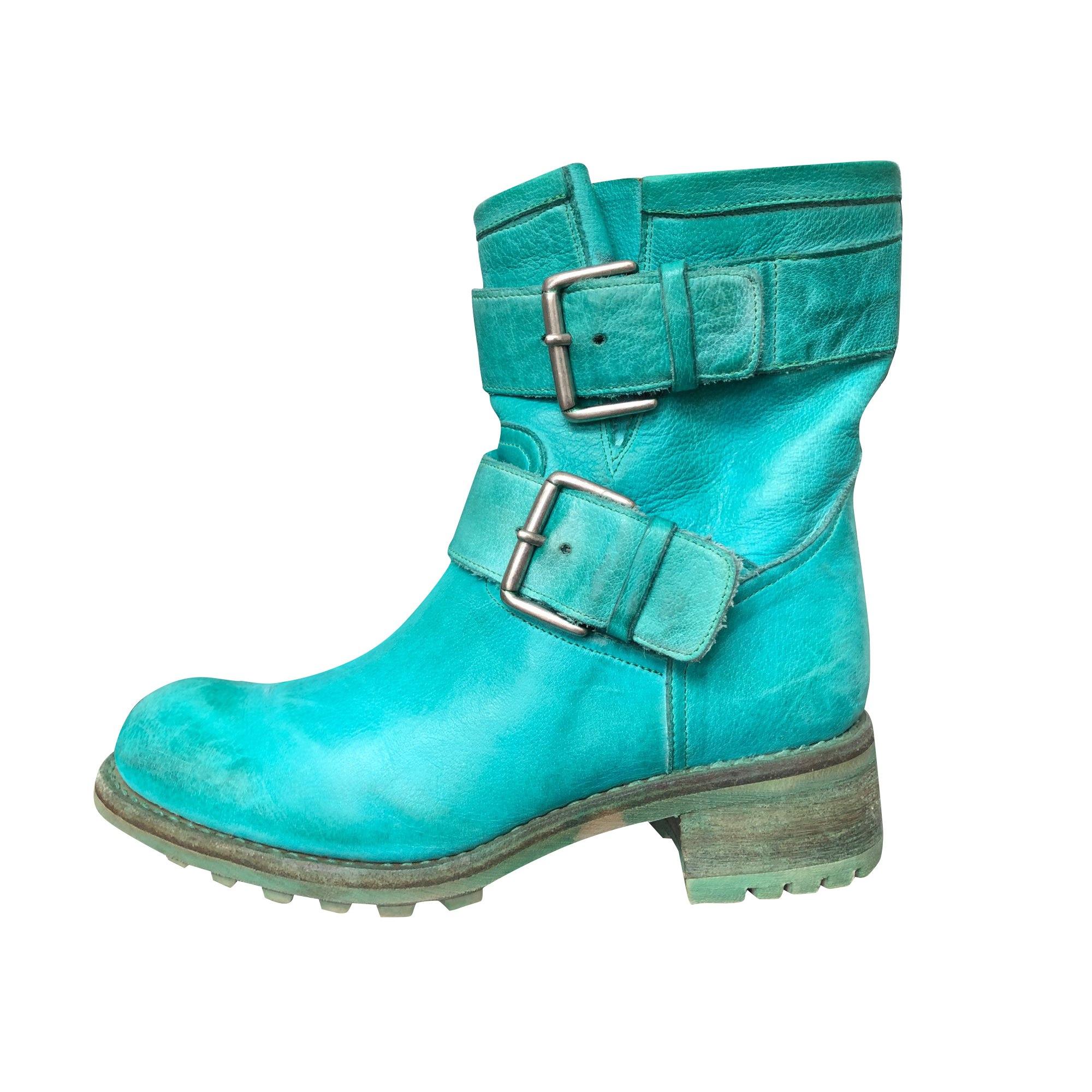 Bottines & low boots plates FREE LANCE Vert