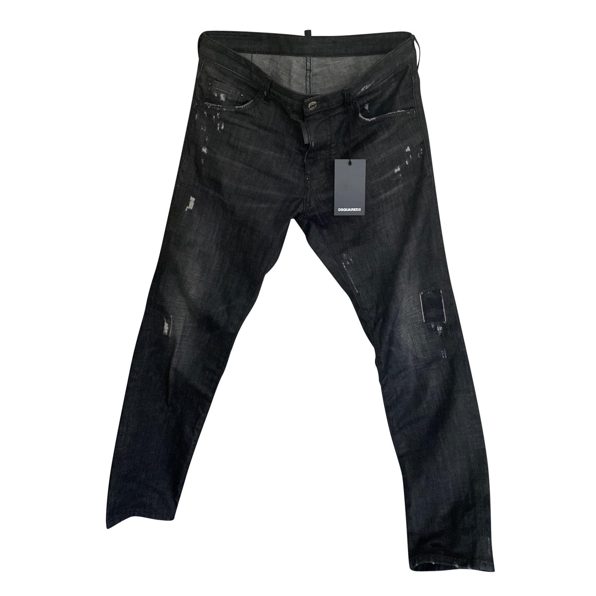 Jeans droit DSQUARED2 Noir