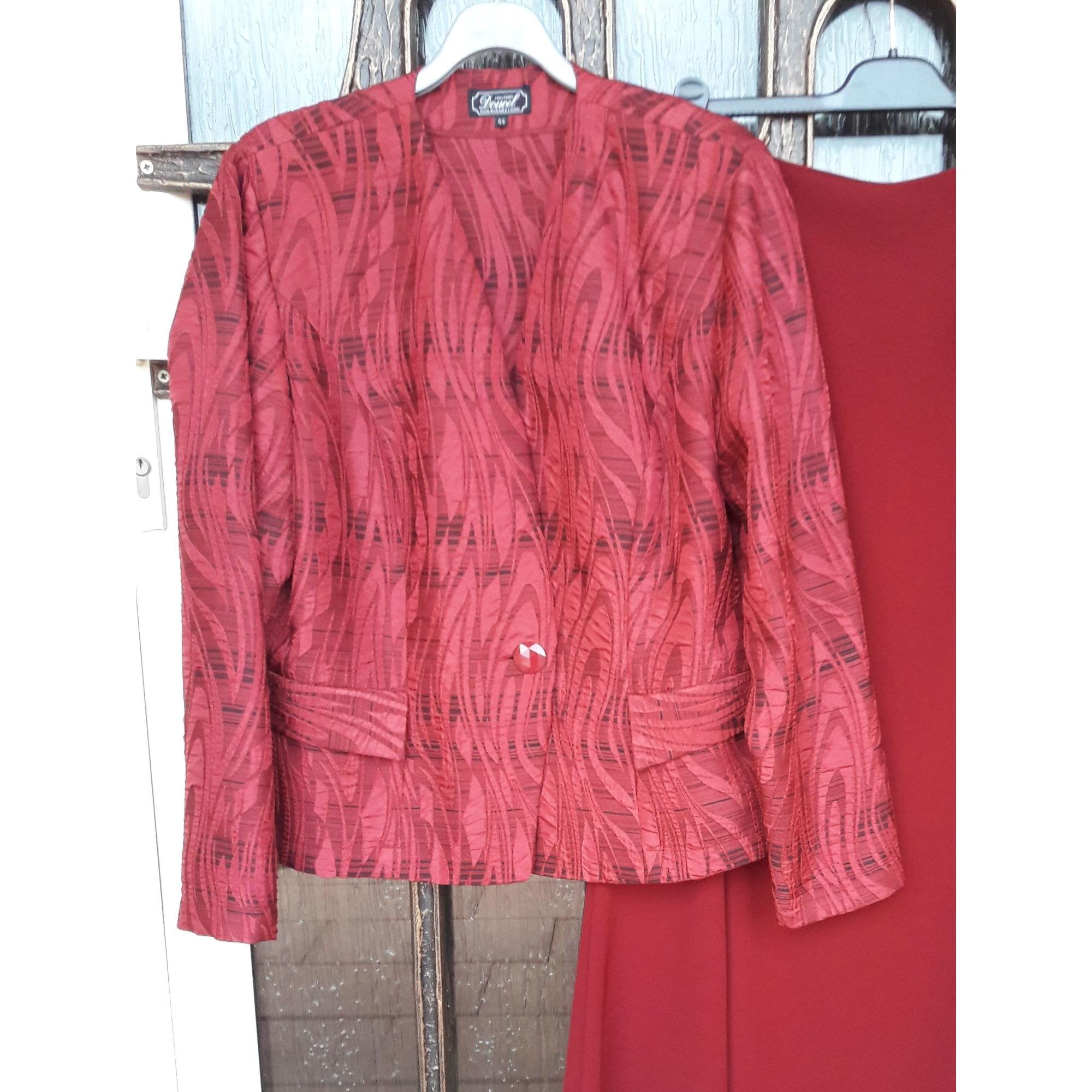 Blazer, veste tailleur DOUCEL CRÉATIONS PARIS Rouge, bordeaux