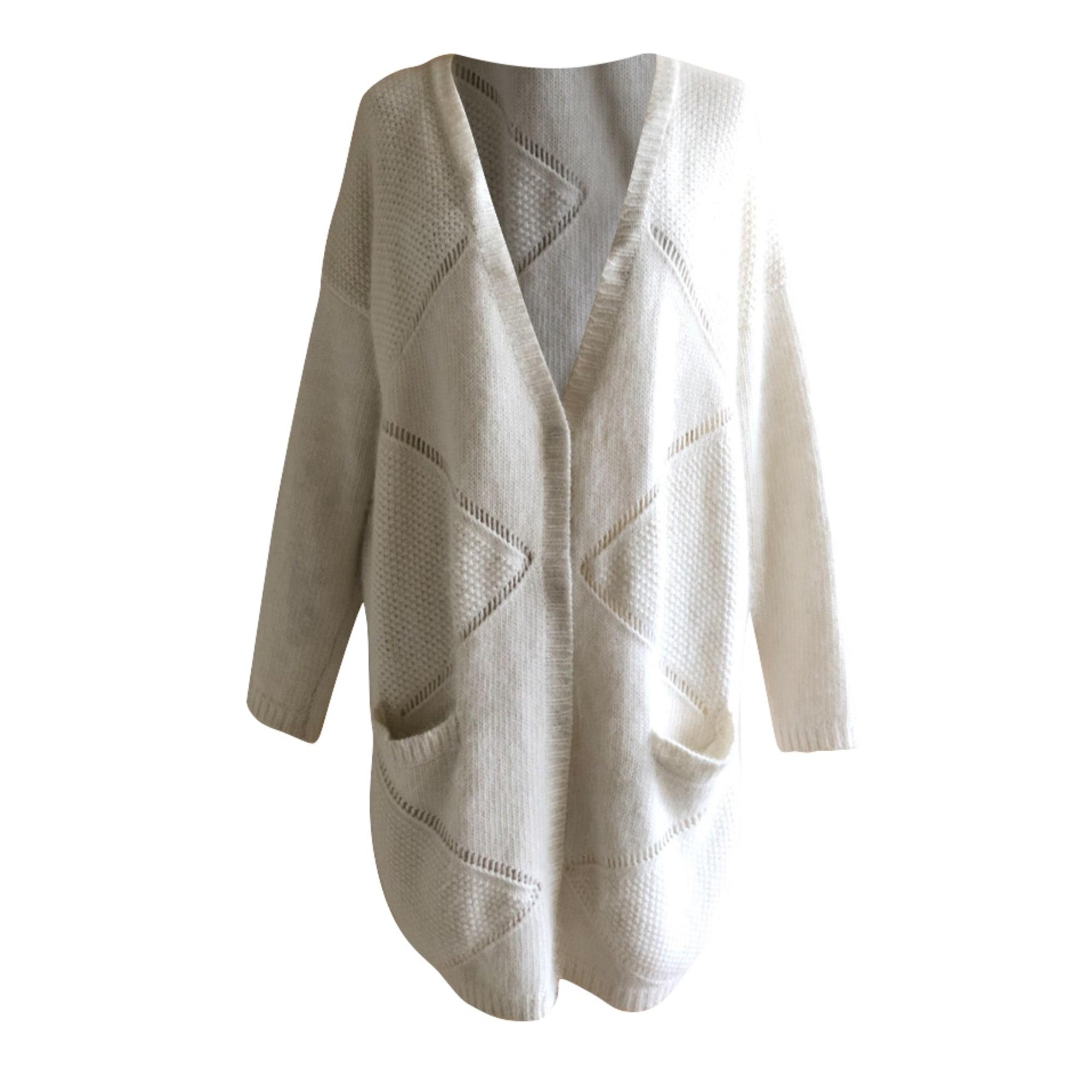 Gilet, cardigan BEL AIR Blanc, blanc cassé, écru