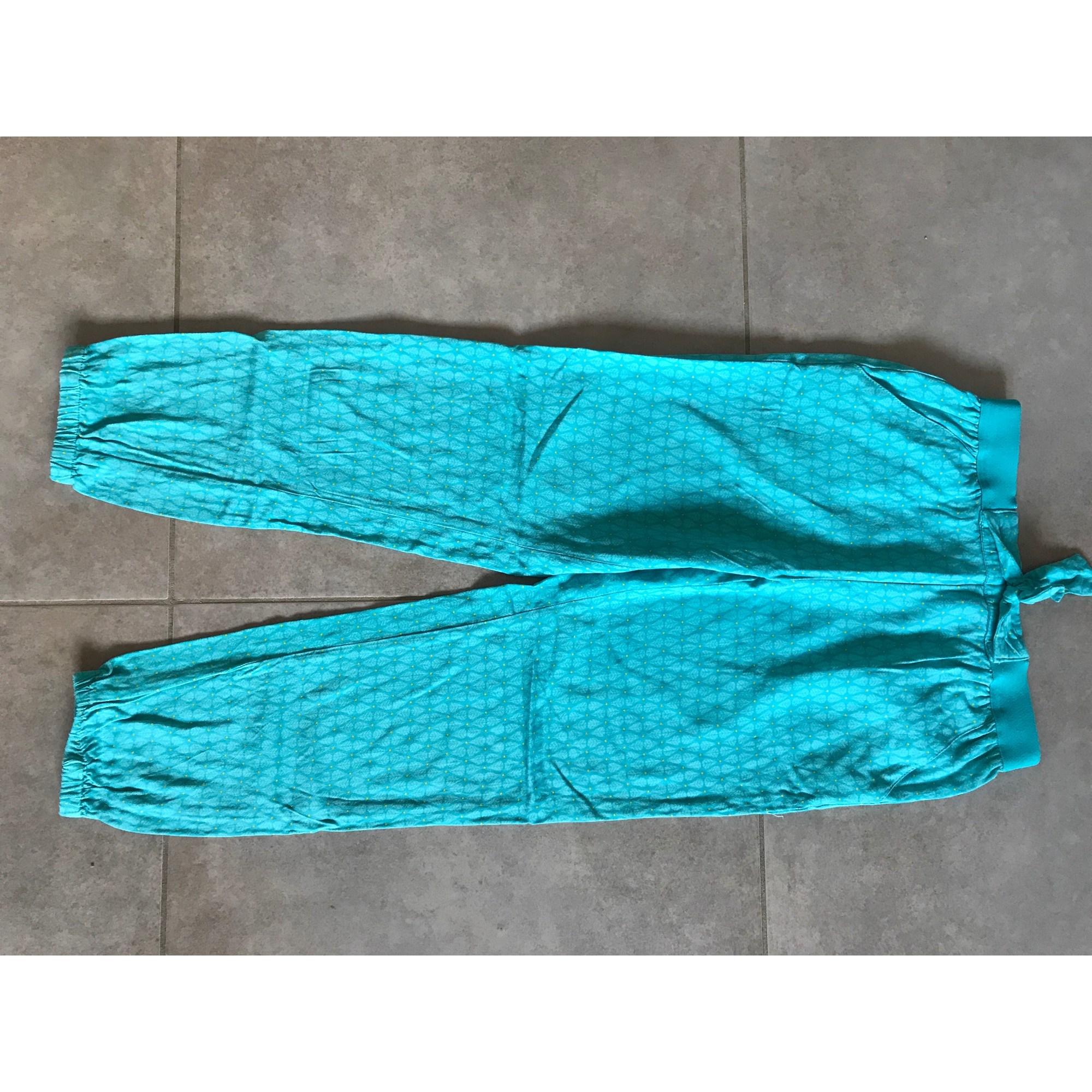 Pantalon OKAÏDI Bleu, bleu marine, bleu turquoise