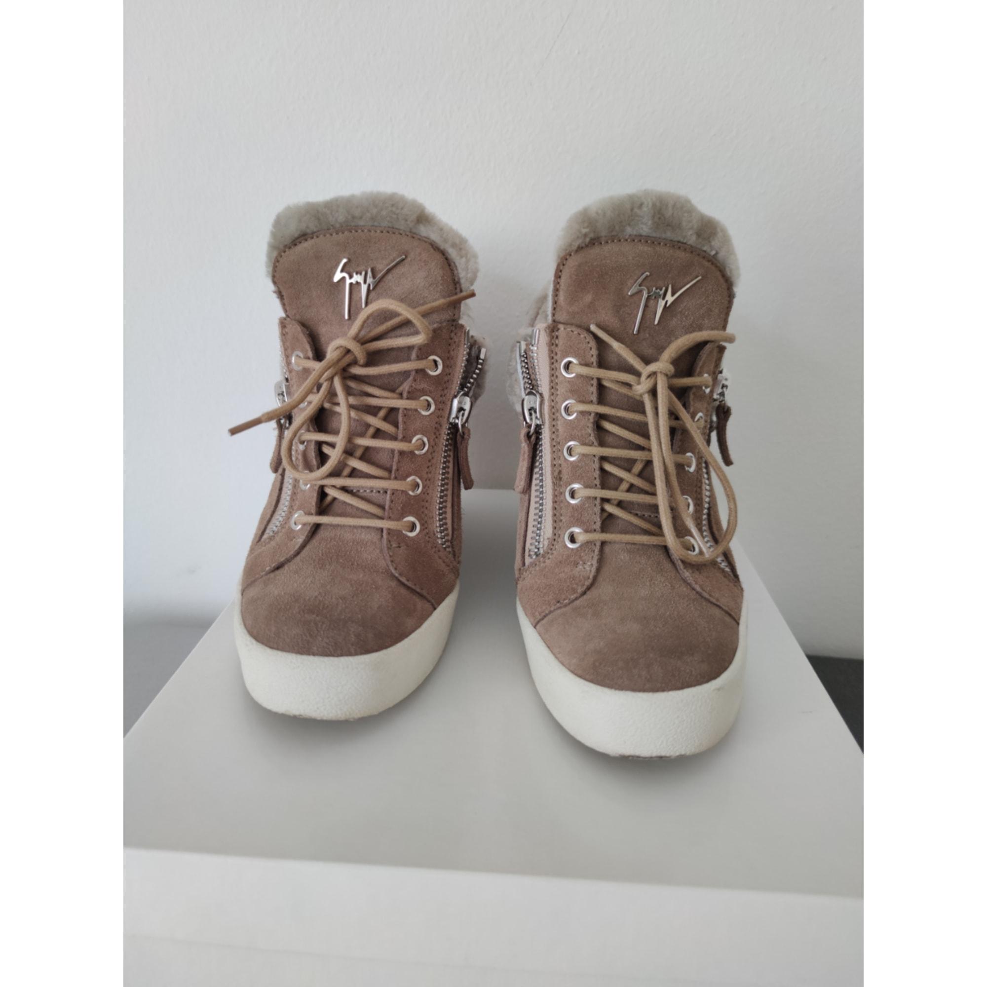 Bottines & low boots à compensés GIUSEPPE ZANOTTI Beige, camel