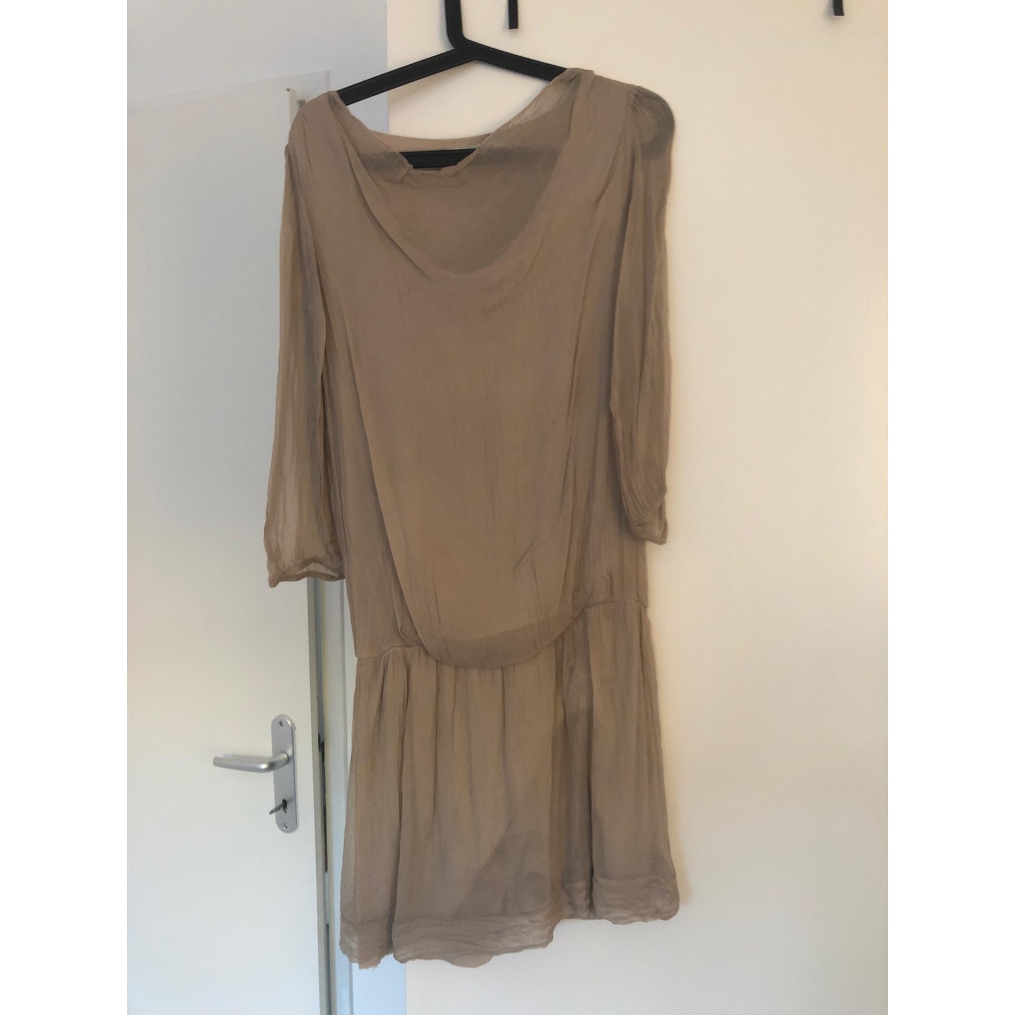 Robe courte LA FÉE MARABOUTÉE Beige, camel