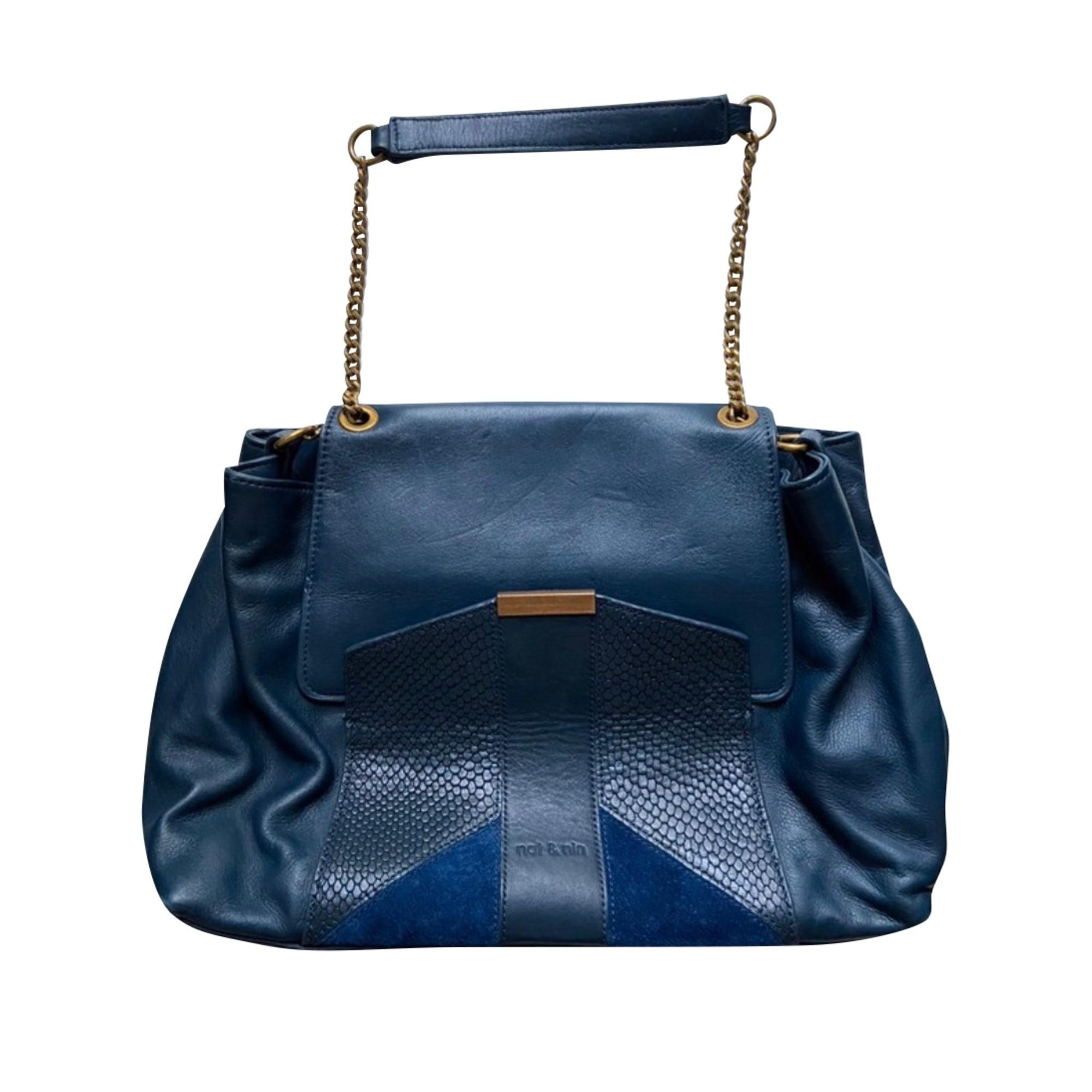 Lederhandtasche NAT & NIN Blau, marineblau, türkisblau