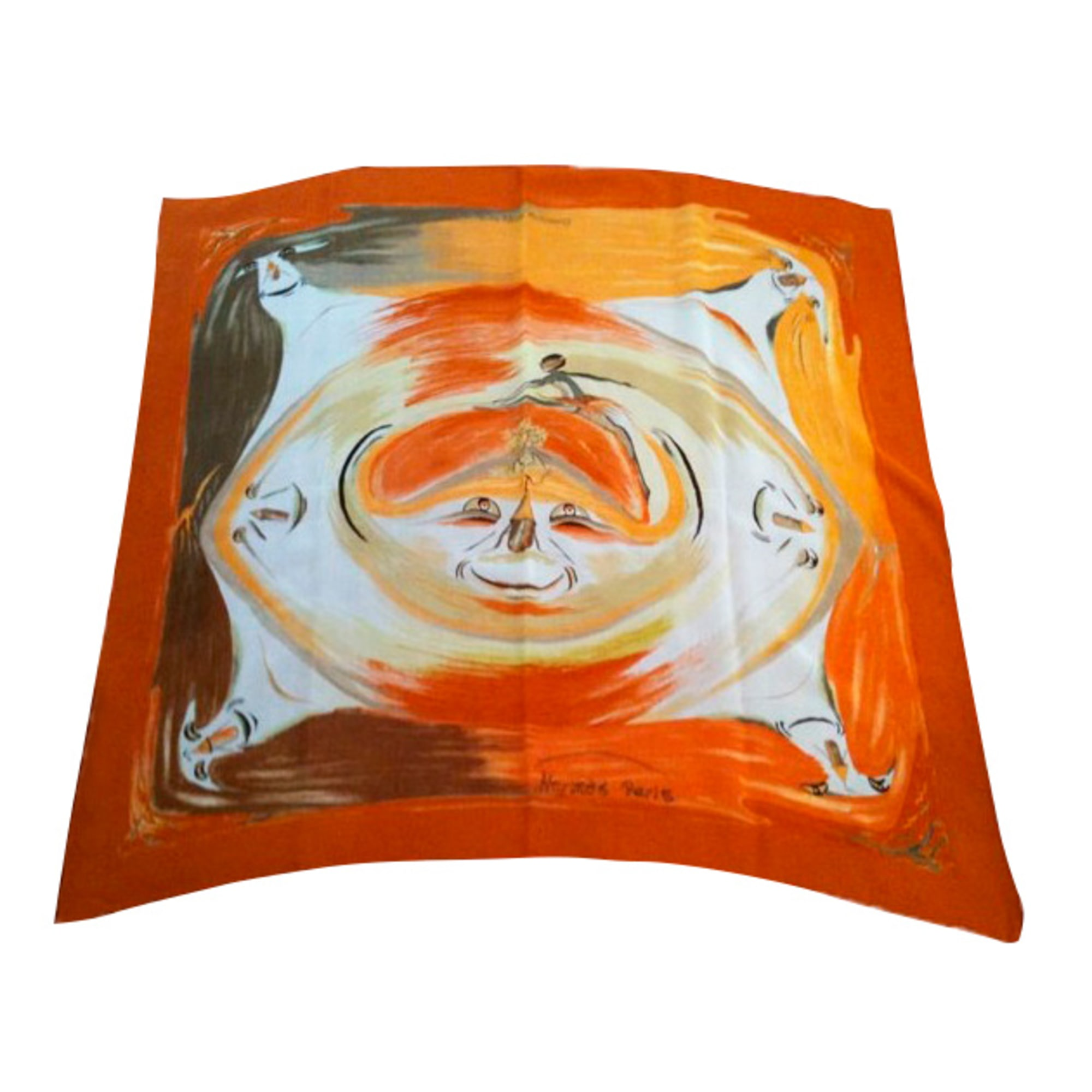 Foulard HERMÈS Carré Orange