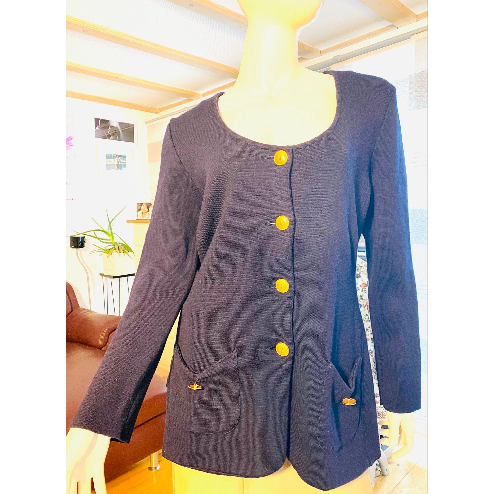 Gilet, cardigan UTHE DESIGN Bleu, bleu marine, bleu turquoise