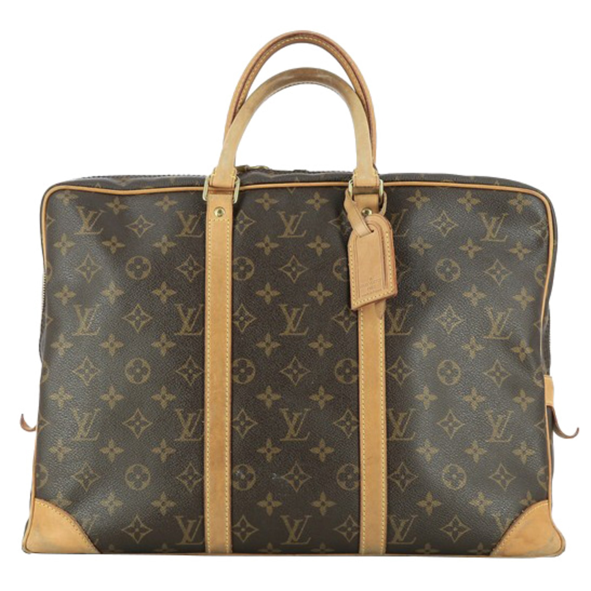 Porte documents, serviette LOUIS VUITTON Marron
