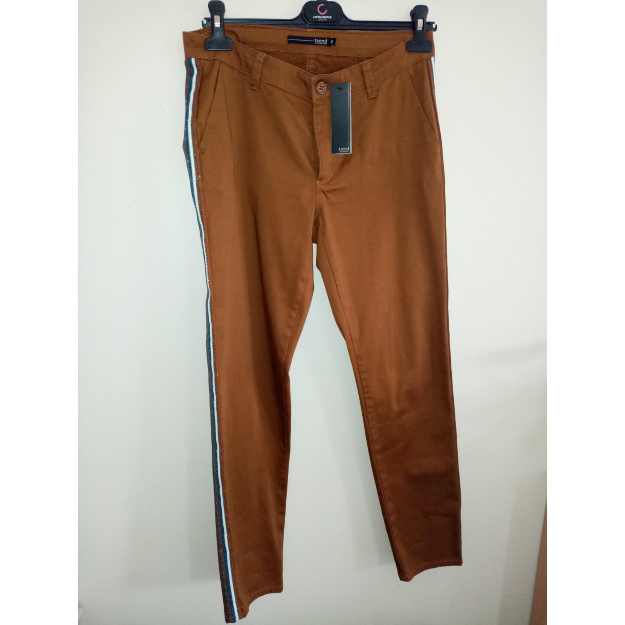 Pantalon droit MISS CAPTAIN Marron