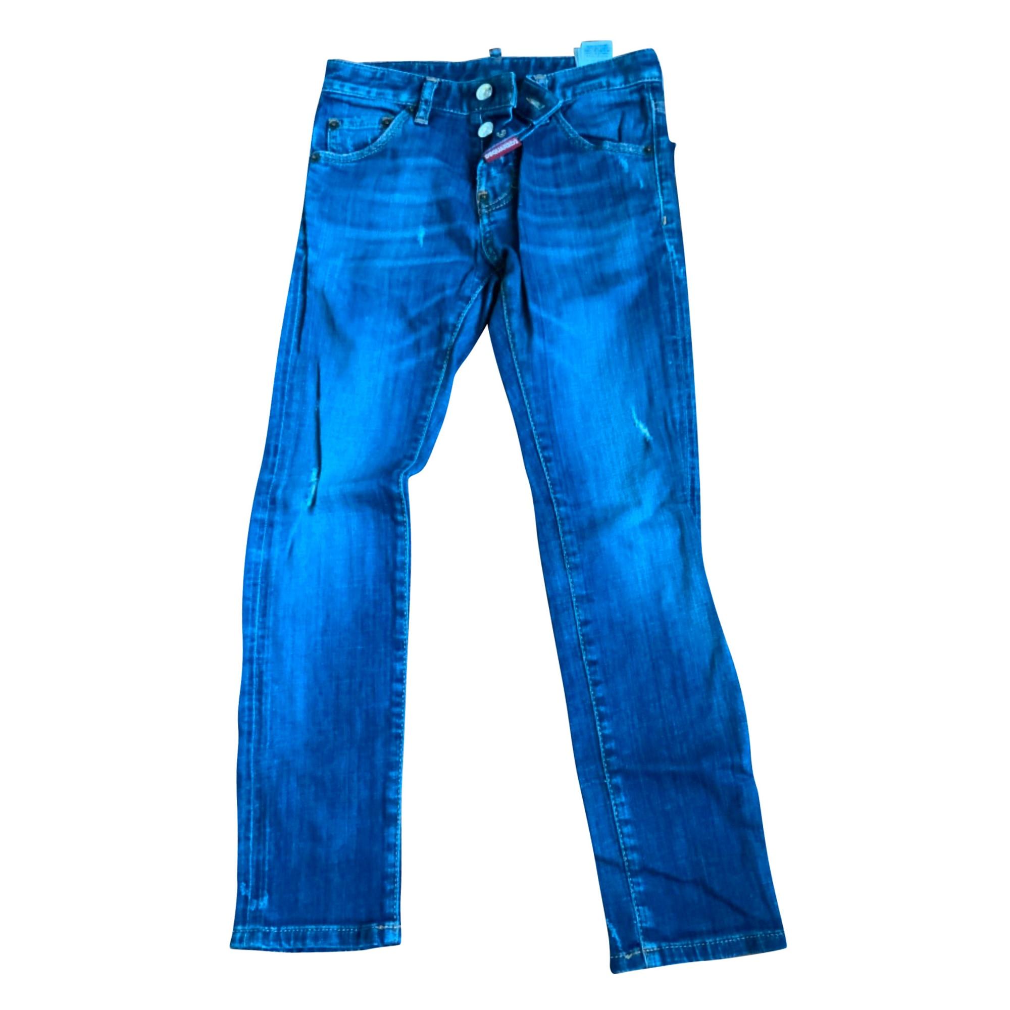 Jean slim DSQUARED2 Bleu, bleu marine, bleu turquoise