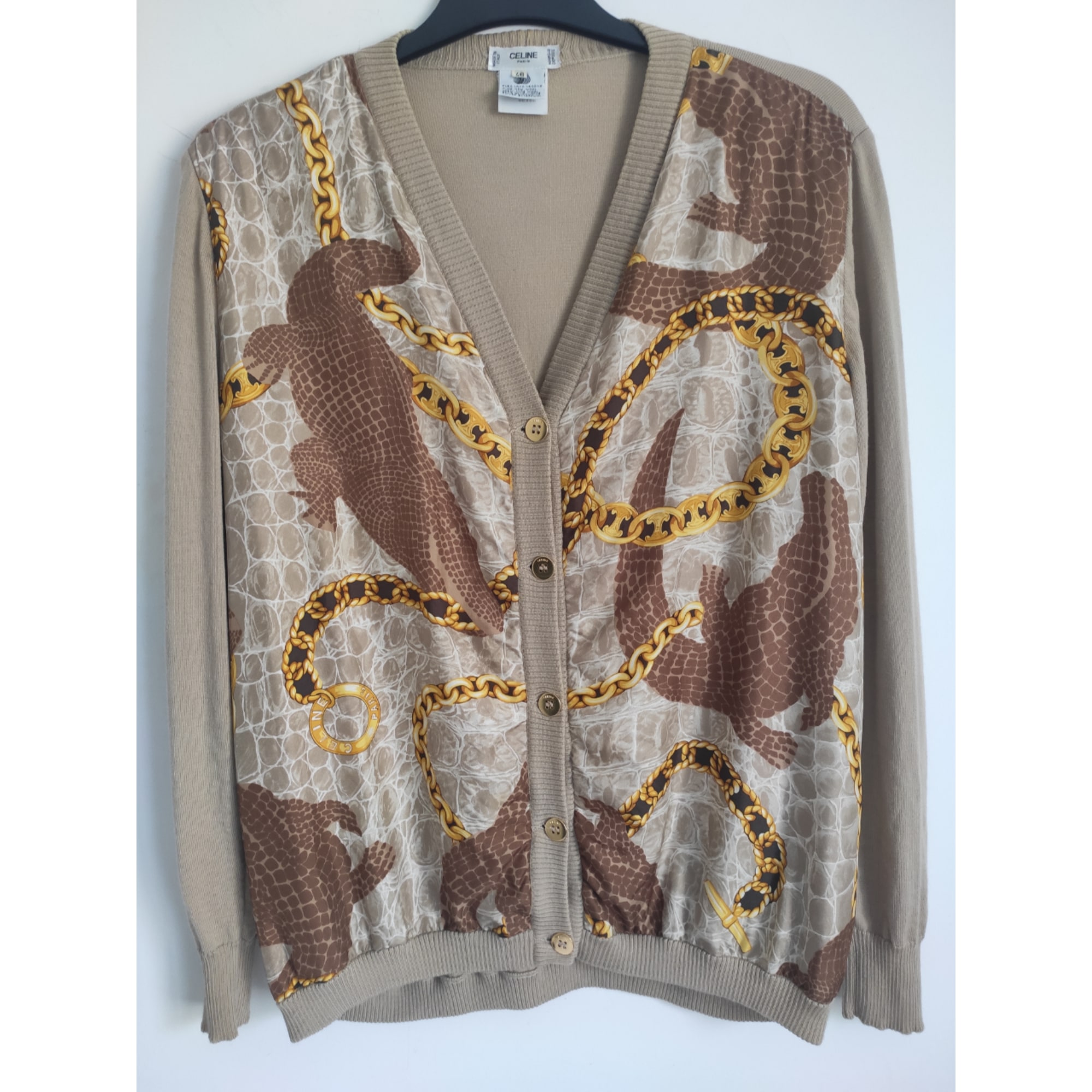 Top, tee-shirt CÉLINE Beige, camel