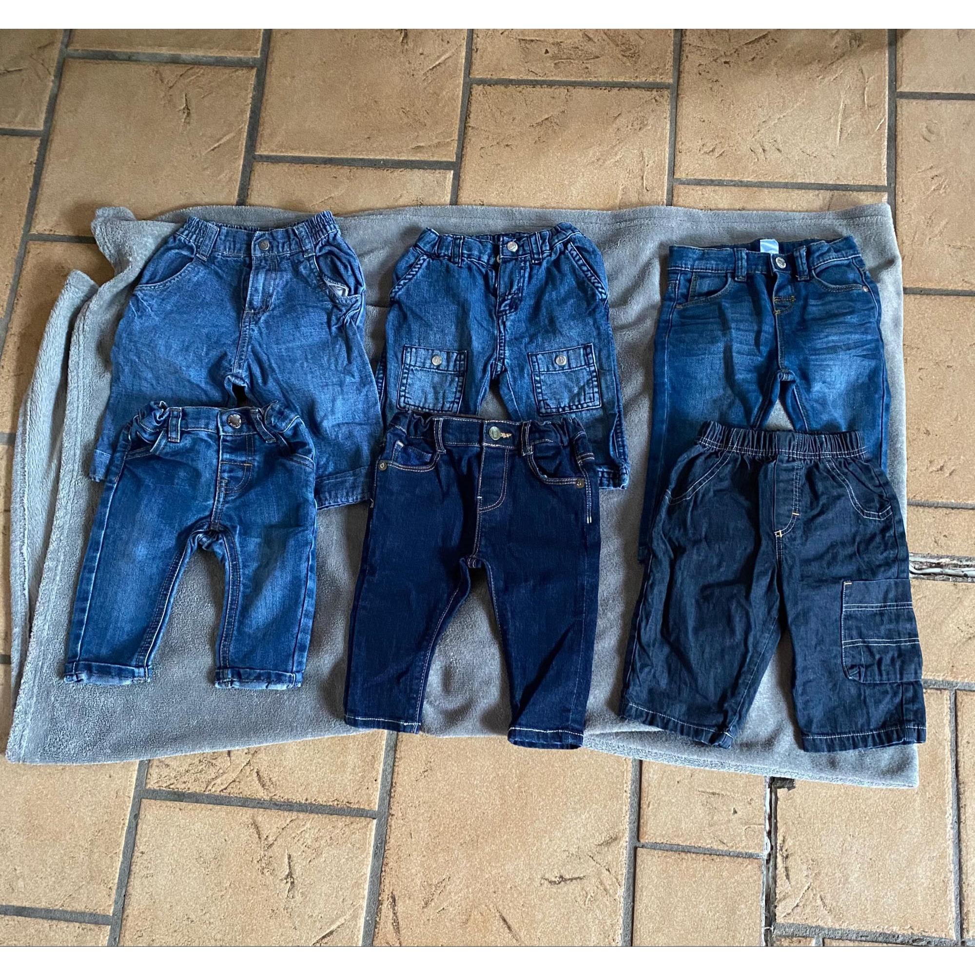 Pantalon MARQUE INCONNUE Bleu, bleu marine, bleu turquoise