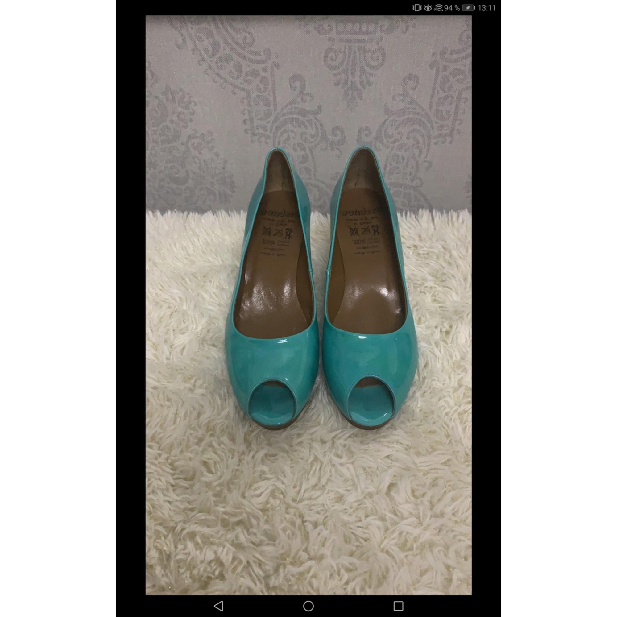 Escarpins à bouts ouverts WONDERS Bleu, bleu marine, bleu turquoise