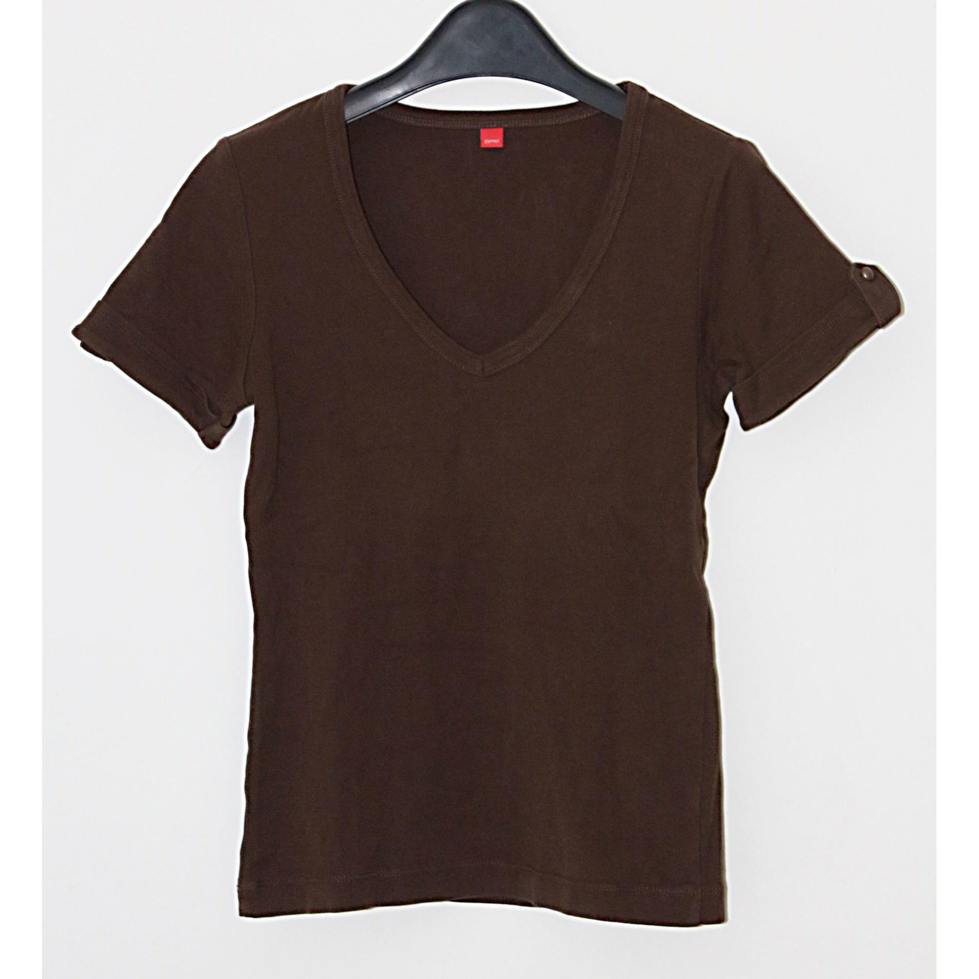 Top, tee-shirt ESPRIT Marron