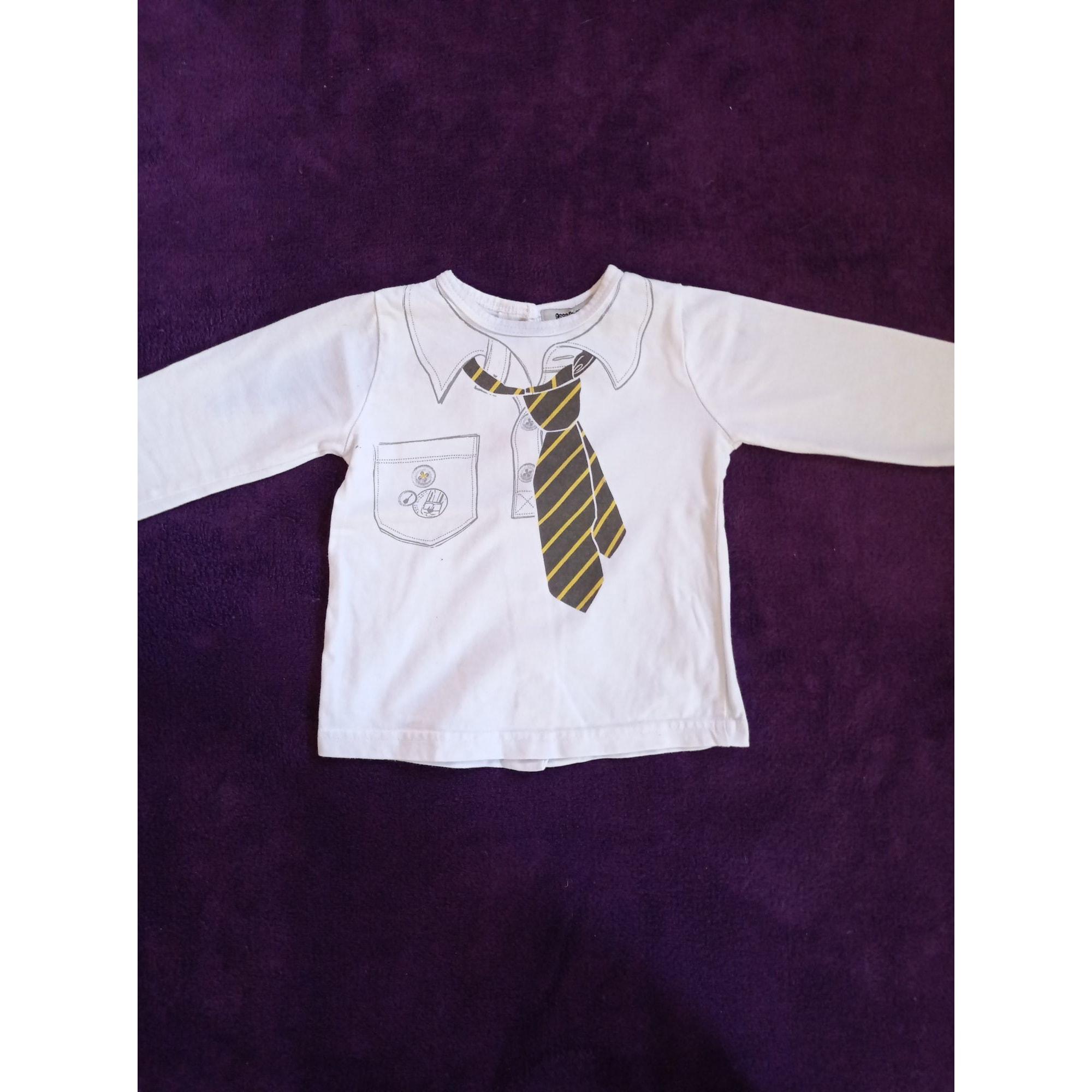 Top, T-shirt TAPE À L'OEIL White, off-white, ecru