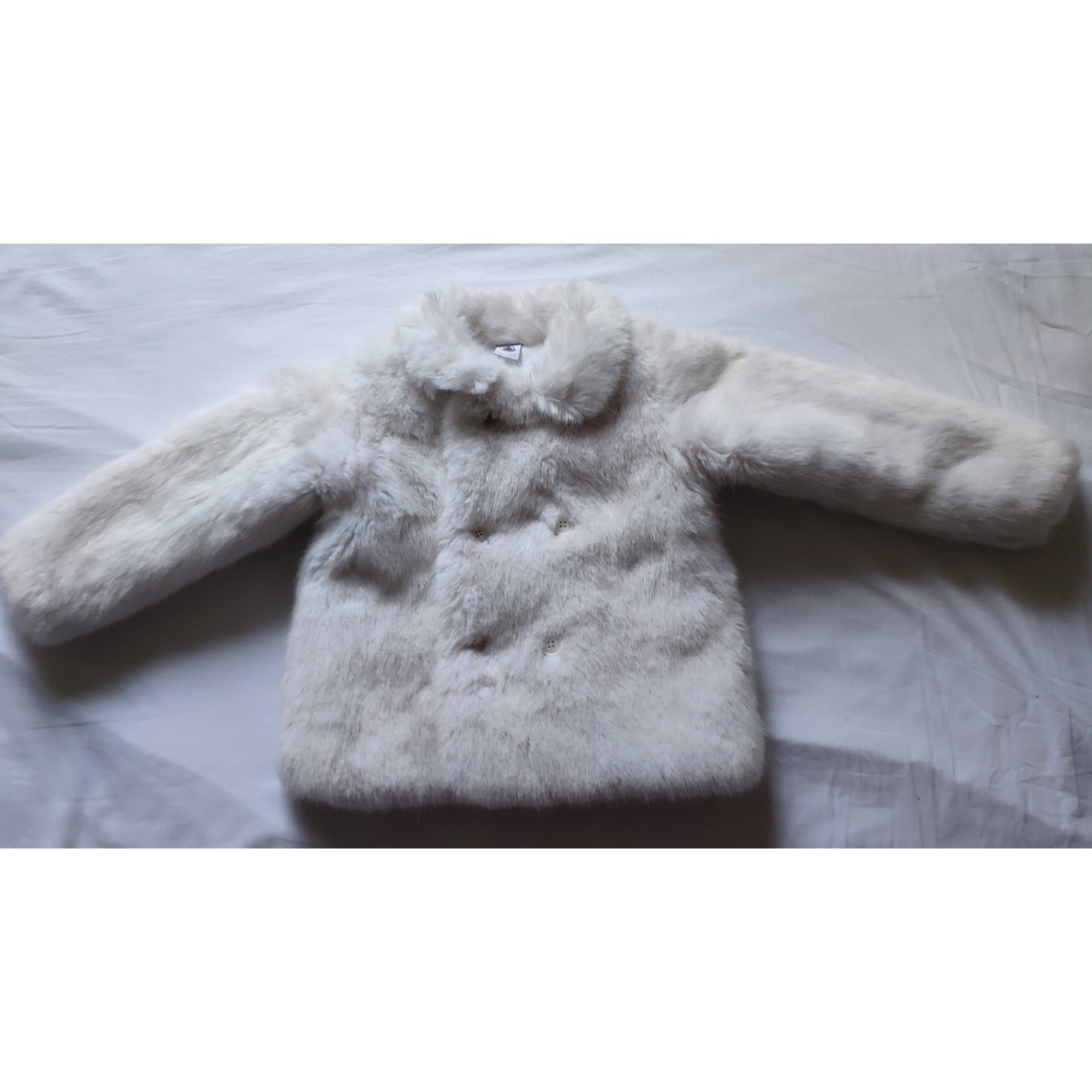 Manteau PETIT BATEAU Blanc, blanc cassé, écru