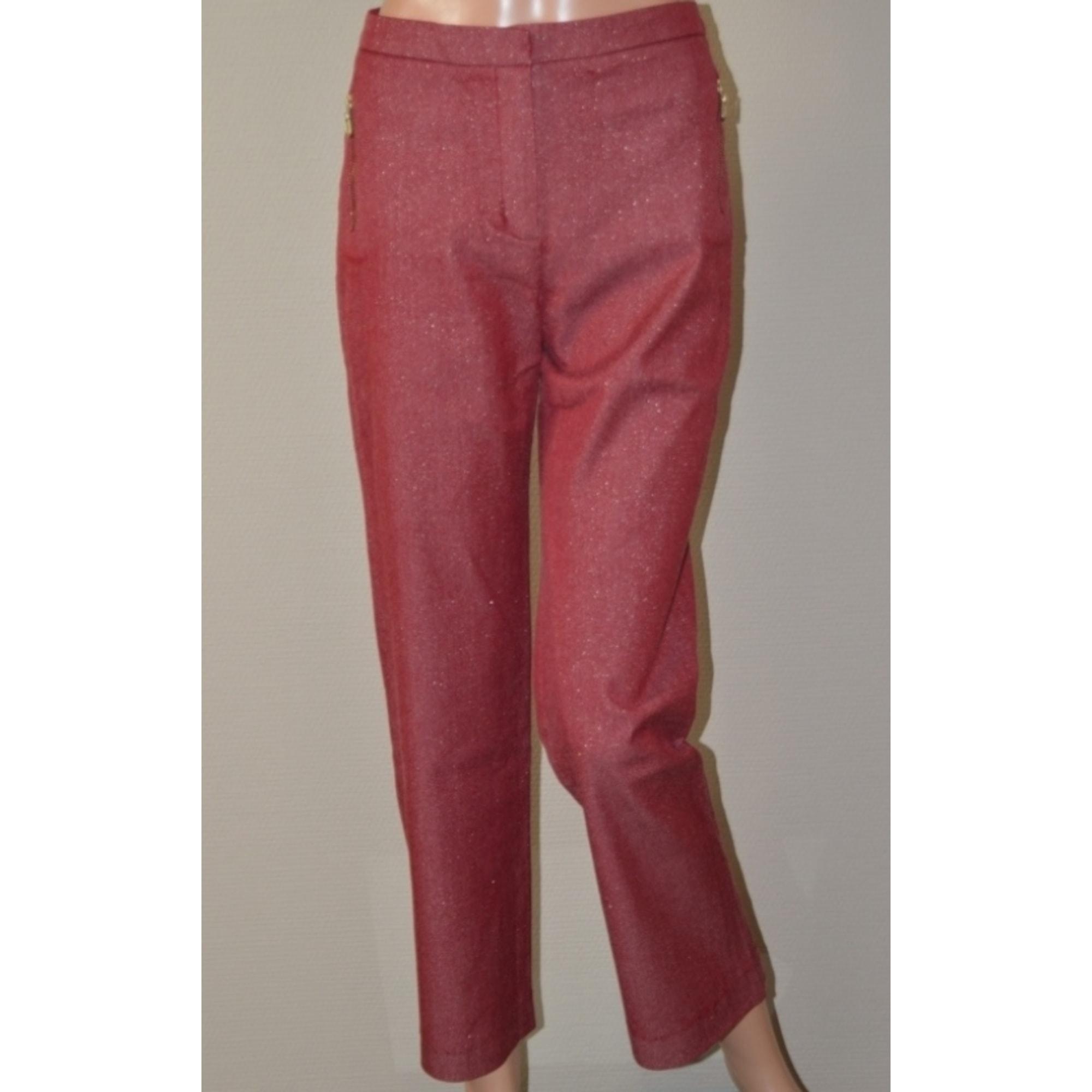 Pantalon droit HELENA SOREL Rouge, bordeaux