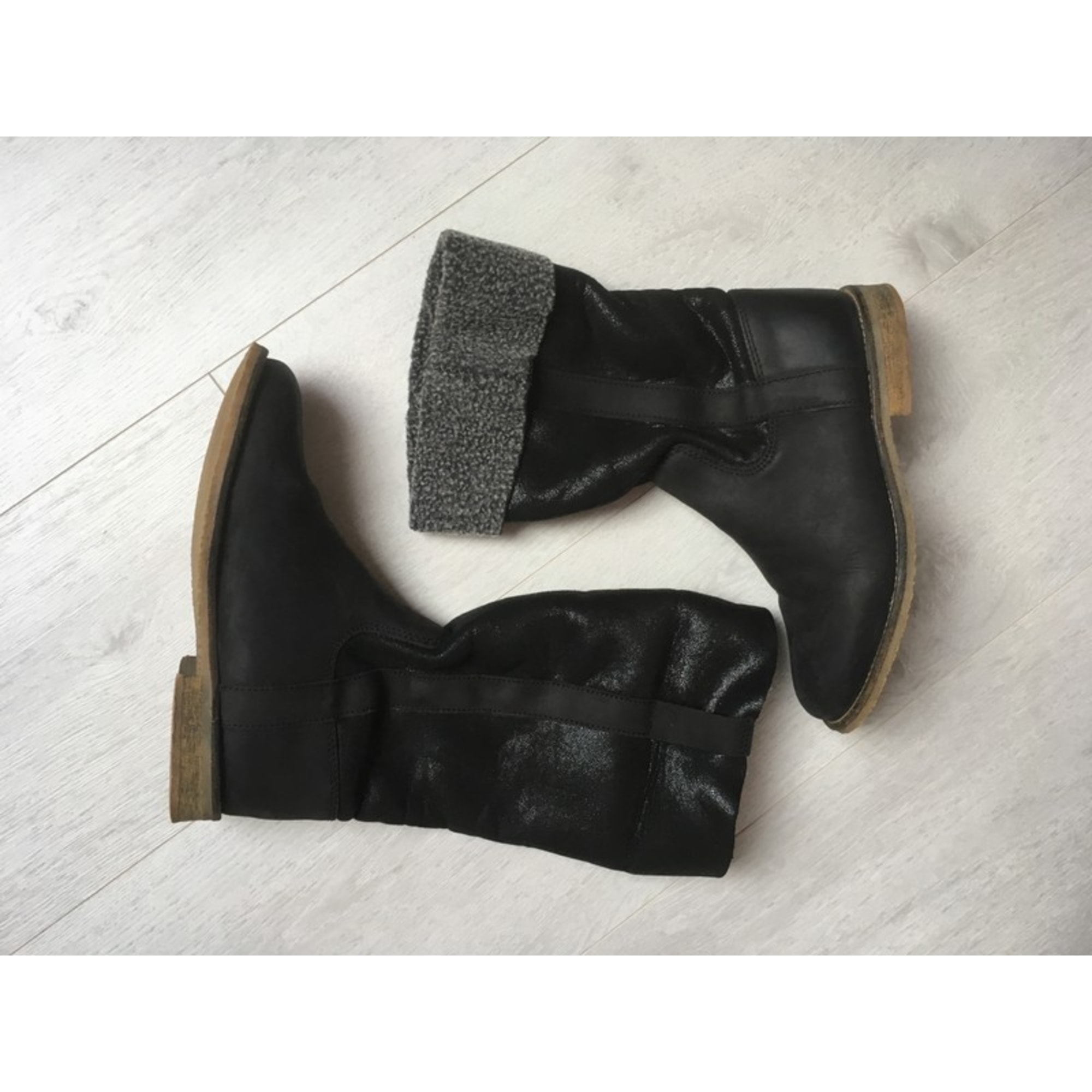 Bottines & low boots plates KOAH Noir