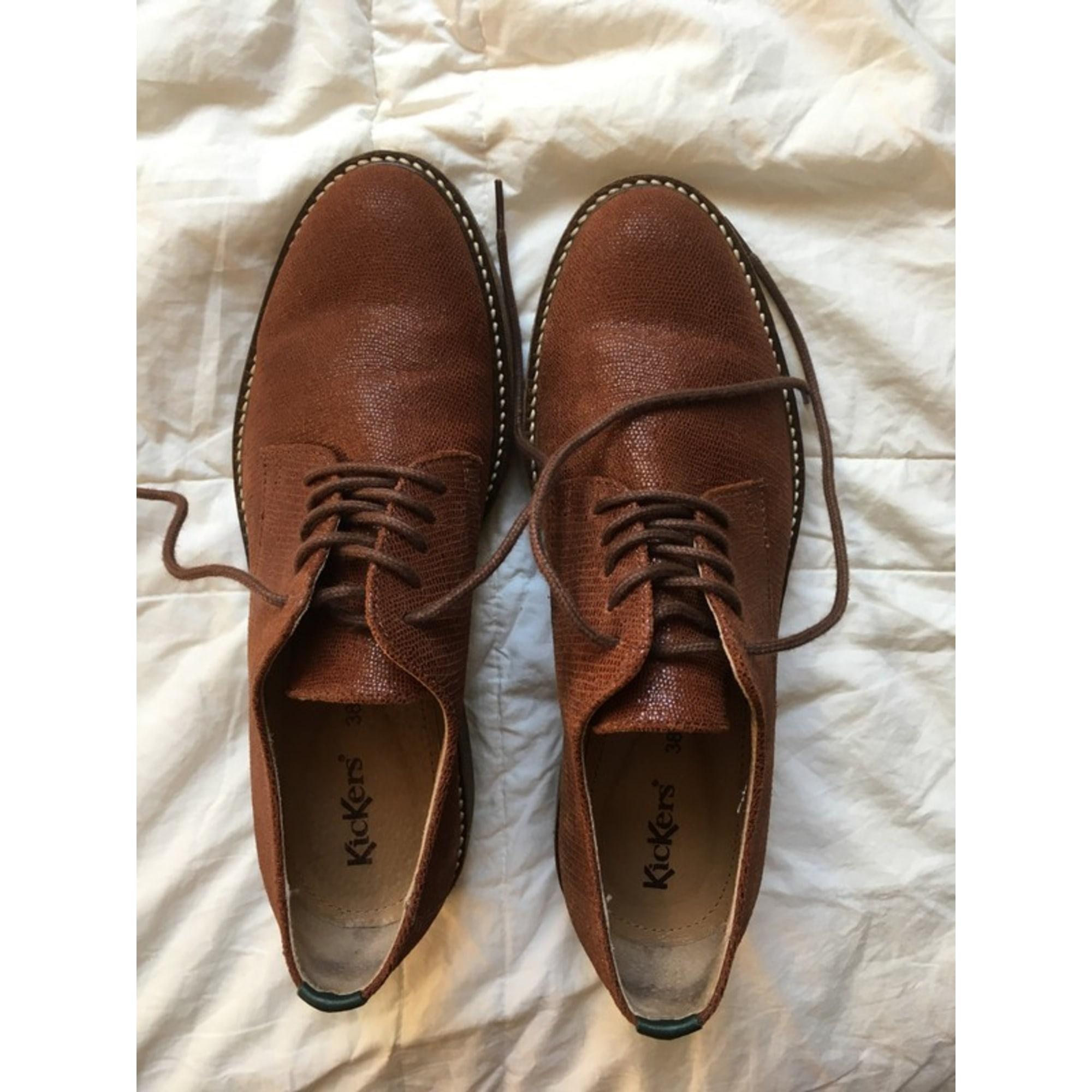 Chaussures à lacets  KICKERS Marron