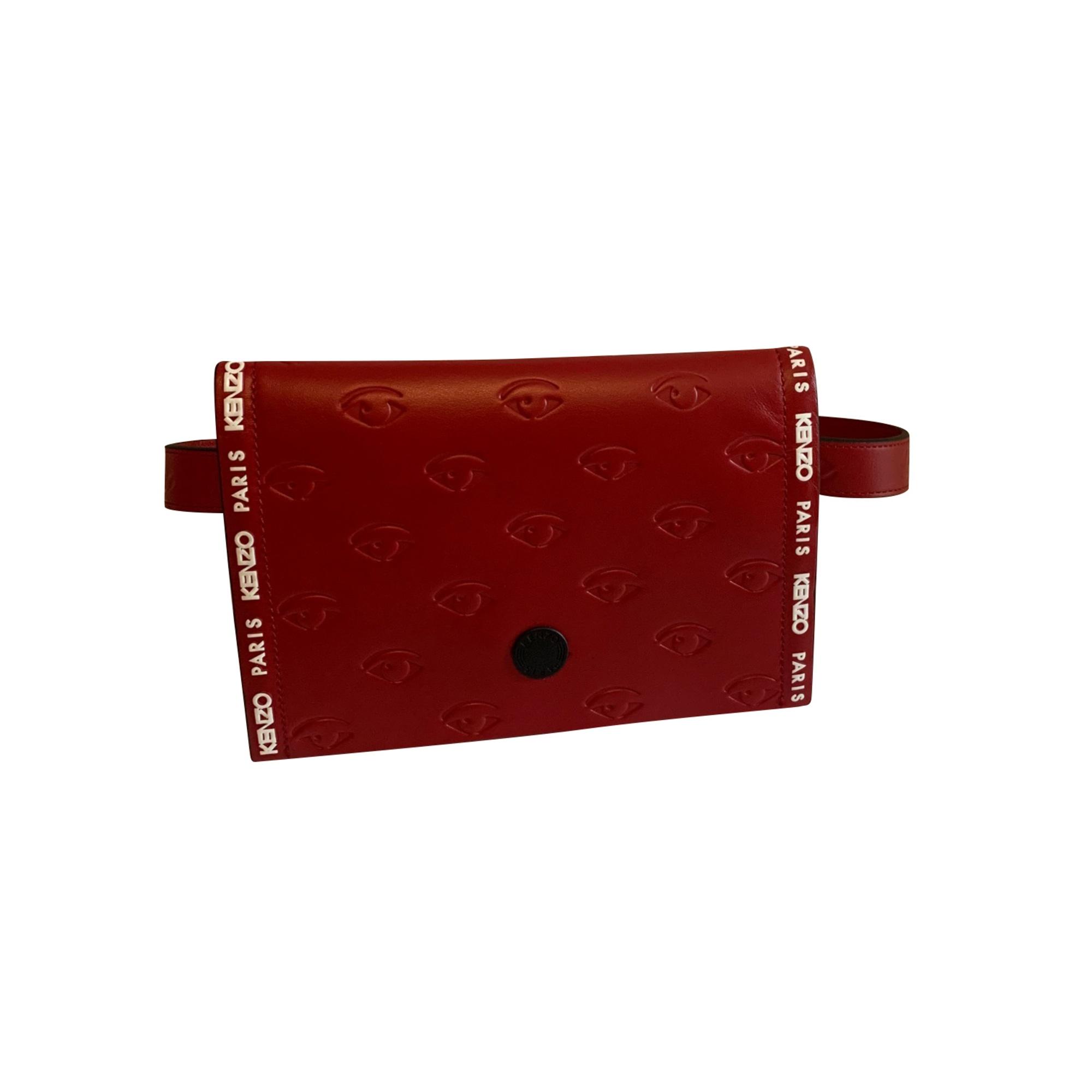 Lederhandtasche KENZO Rot, bordeauxrot