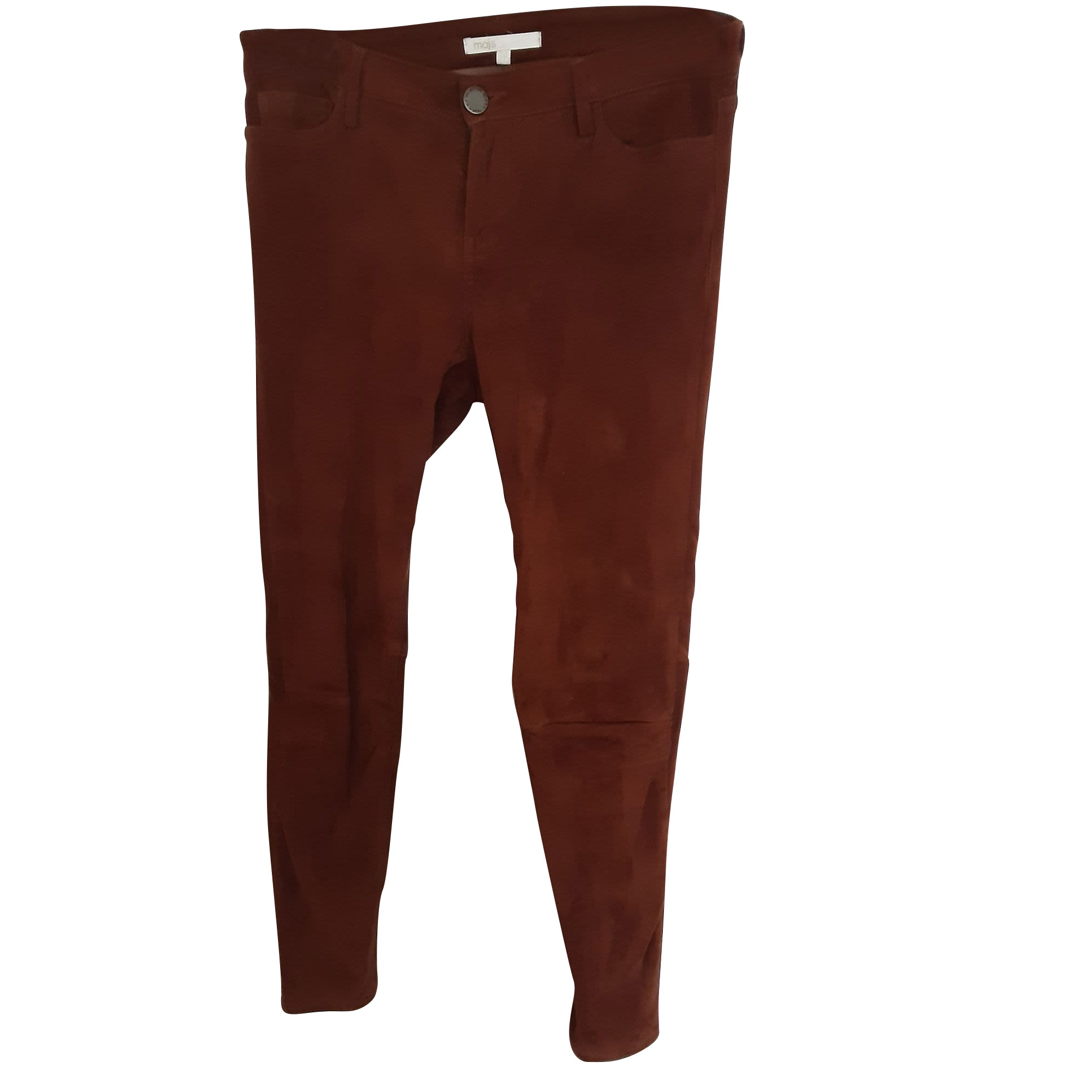 Jeans slim MAJE Fauve