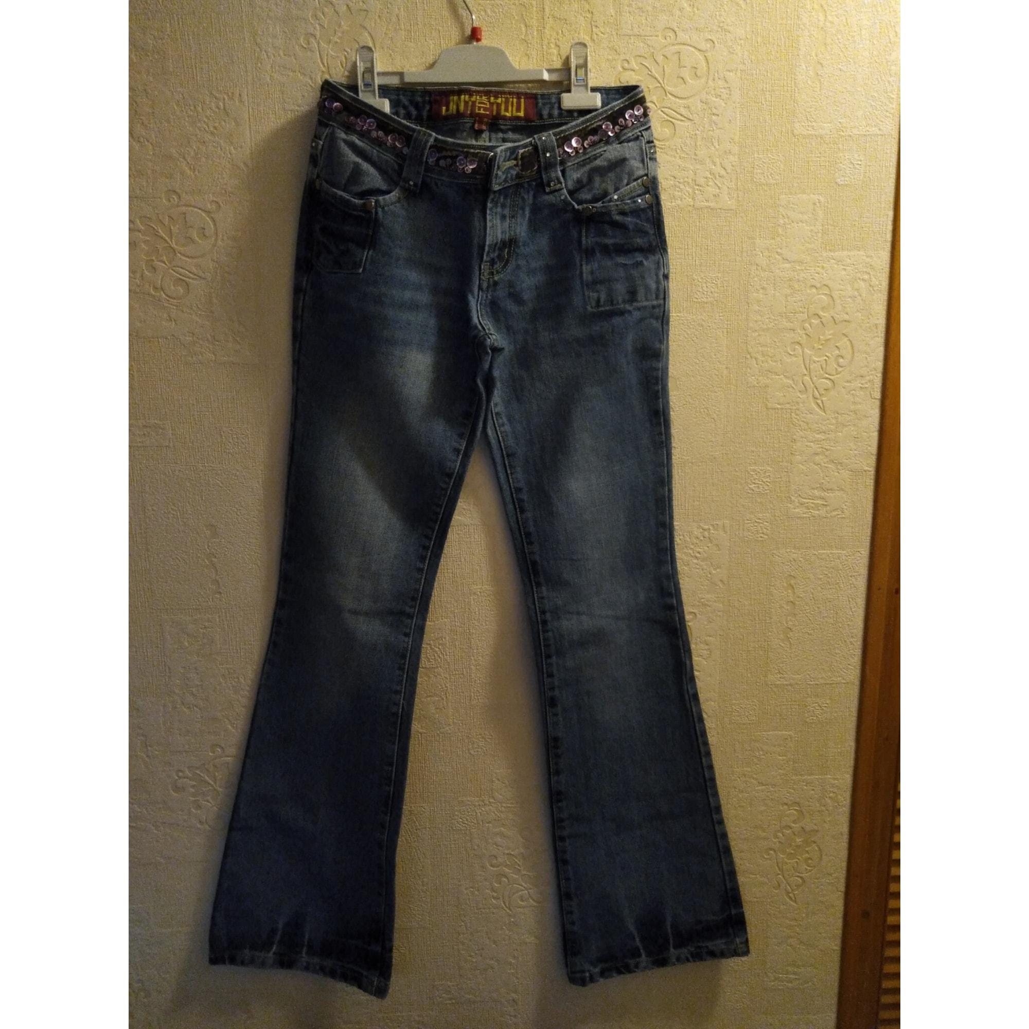 Jeans évasé, boot-cut JENNYFER Bleu, bleu marine, bleu turquoise