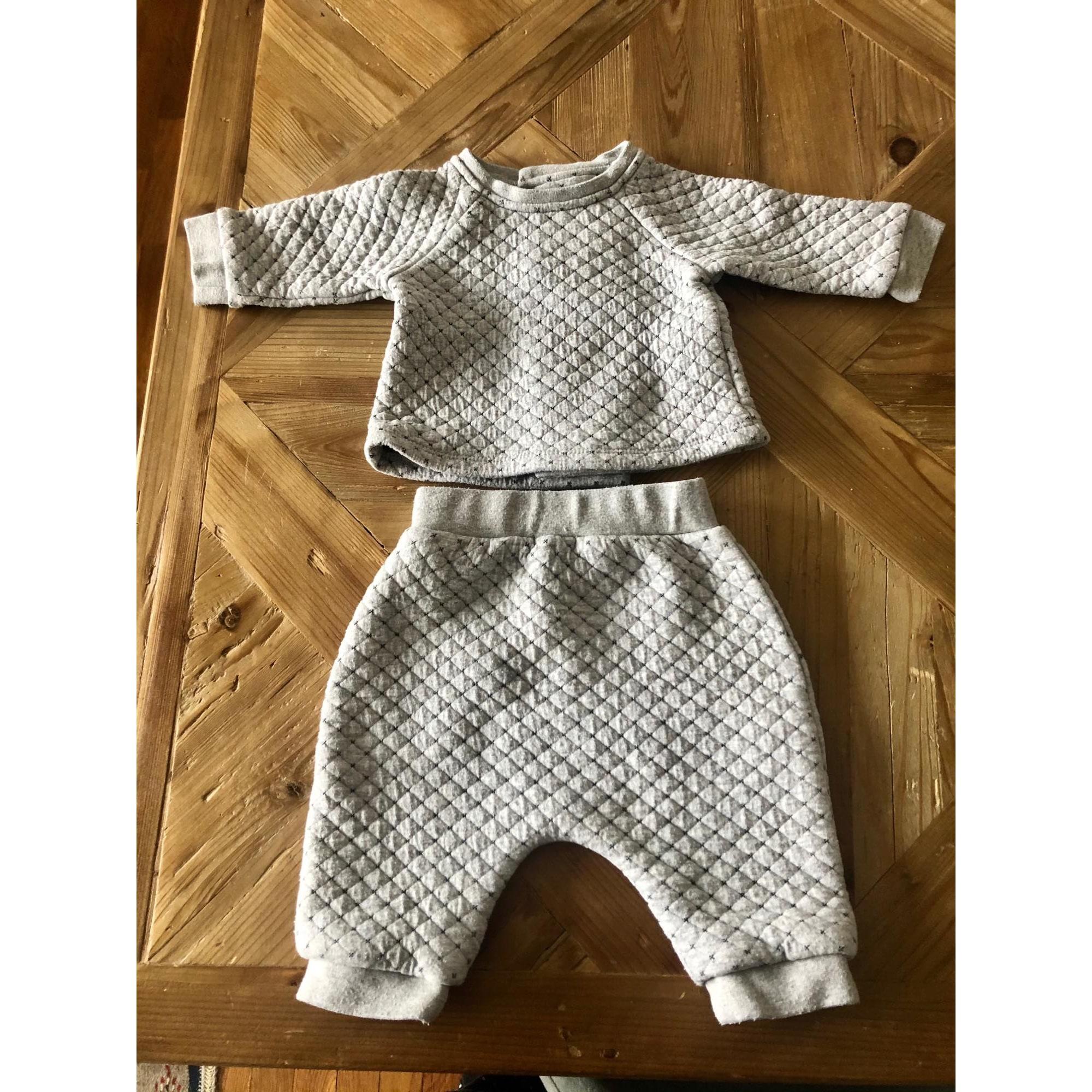 Pants Set, Outfit BOUT'CHOU Gray, charcoal