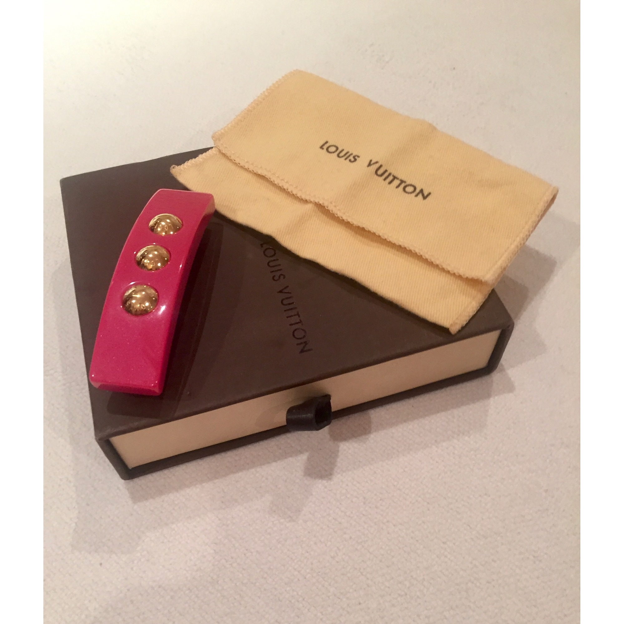 Hairclip LOUIS VUITTON Pink, fuchsia, light pink