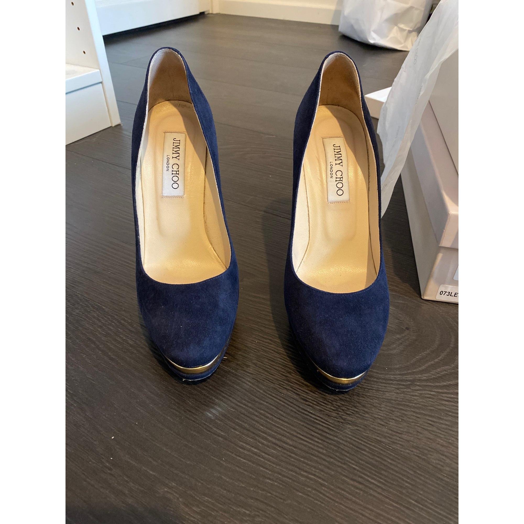 Escarpins compensés JIMMY CHOO Bleu, bleu marine, bleu turquoise