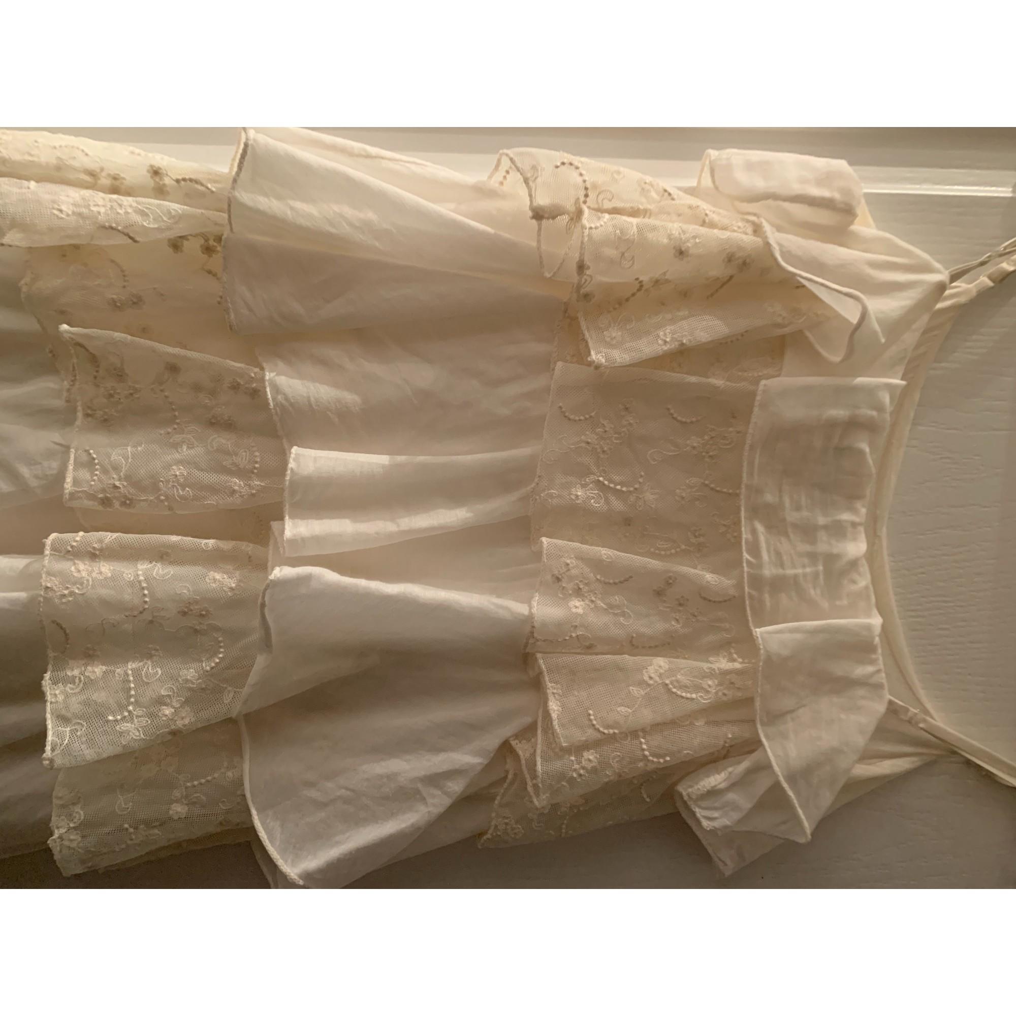 Robe courte LA FÉE MARABOUTÉE Blanc, blanc cassé, écru