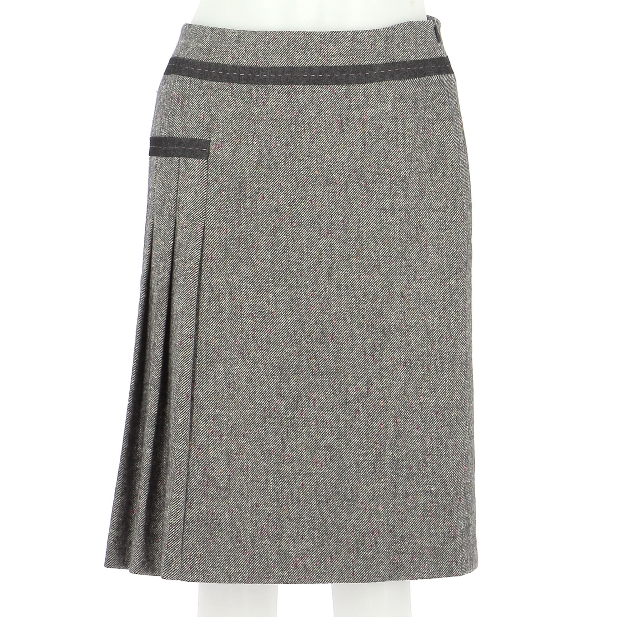 Midi Skirt ALAIN MANOUKIAN Gray, charcoal