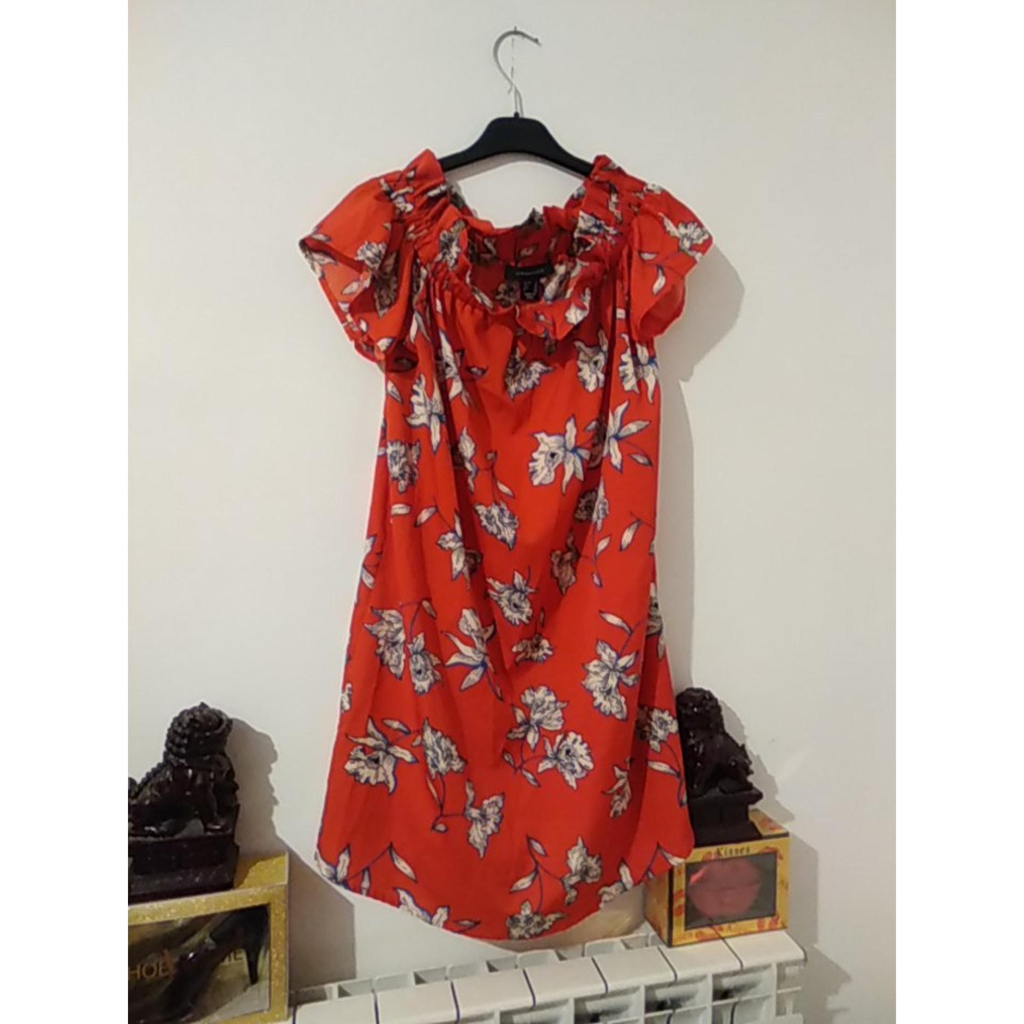 Robe courte ATMOSPHERE Rouge, bordeaux