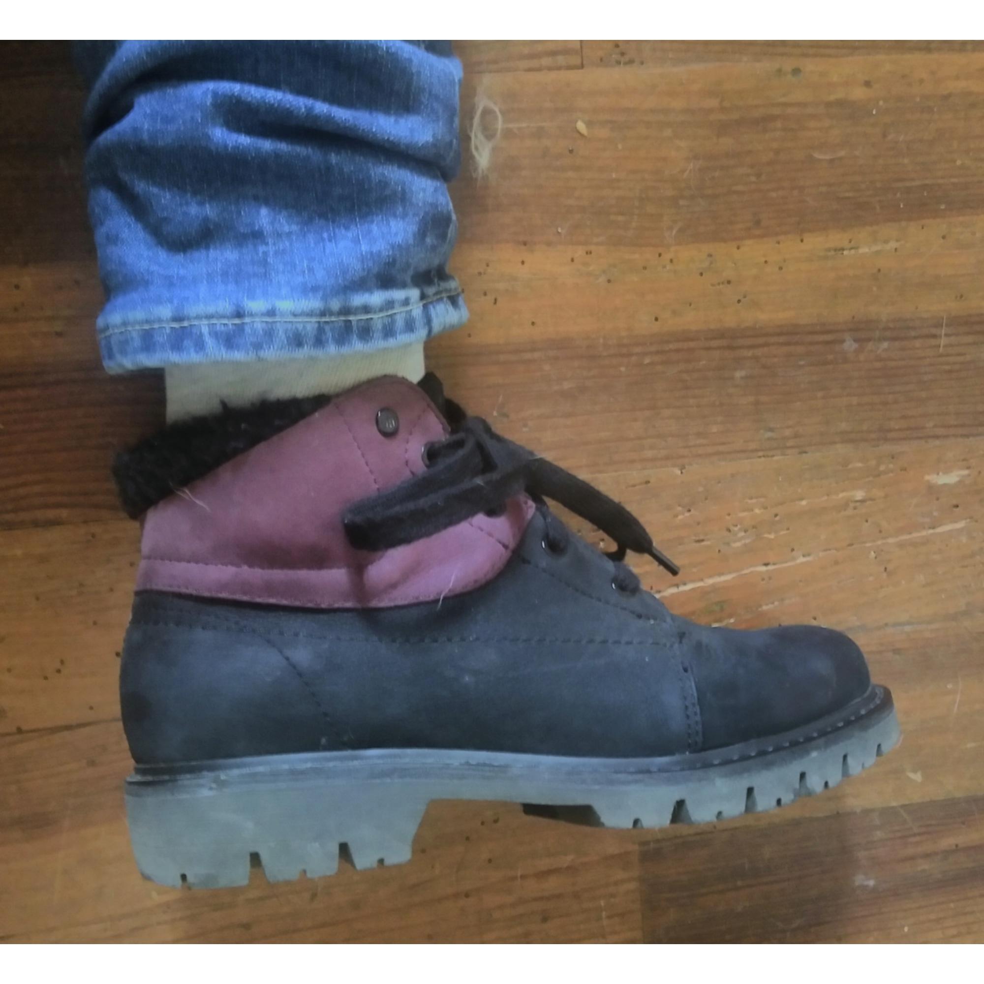 Bottines & low boots plates CATERPILLAR Noir