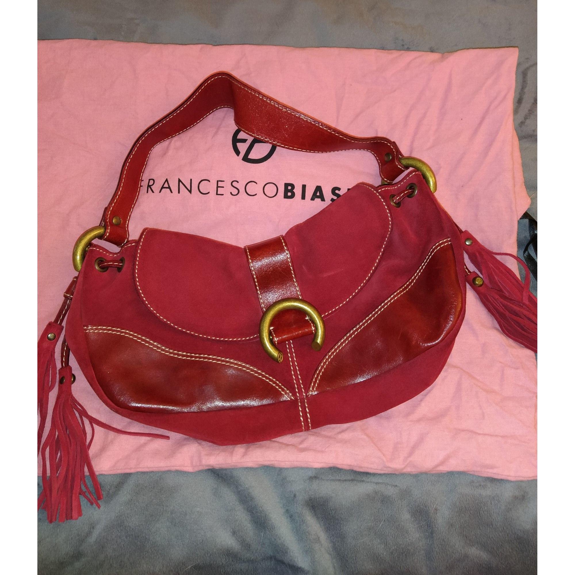 Lederhandtasche FRANCESCO BIASIA Rot, bordeauxrot