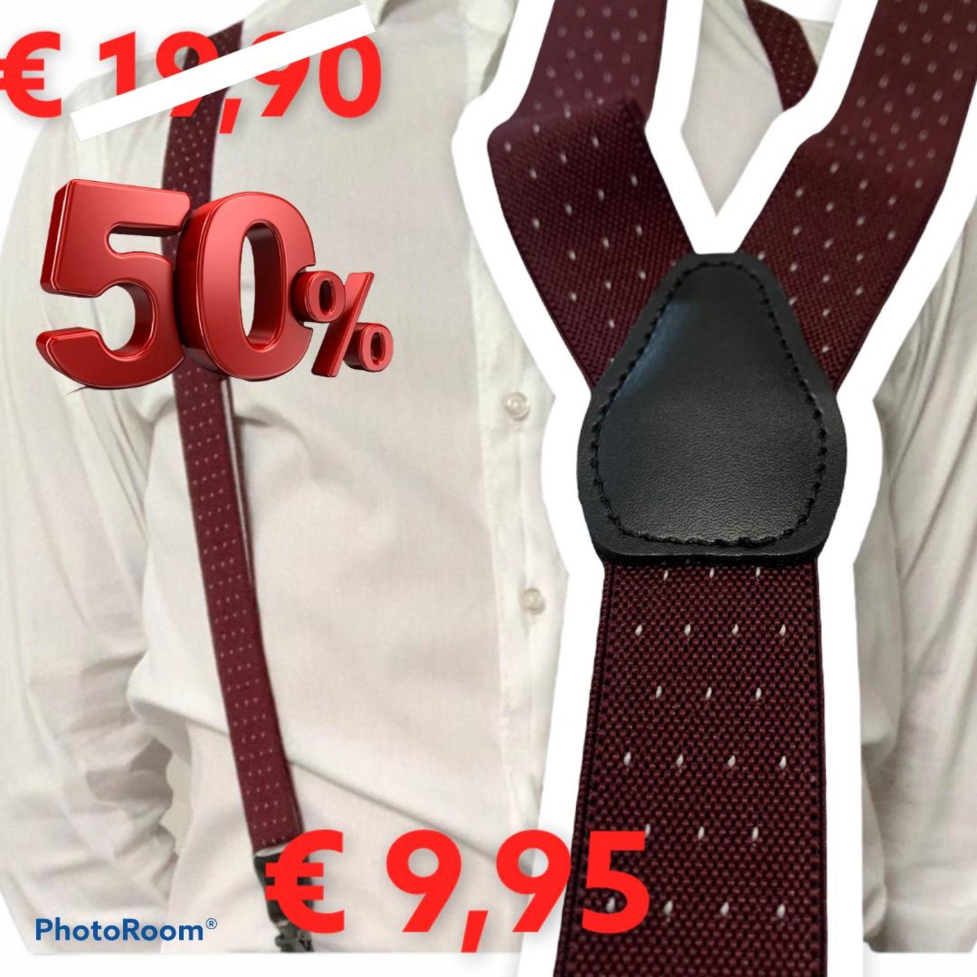 Suspenders PERFECTUM Red, burgundy
