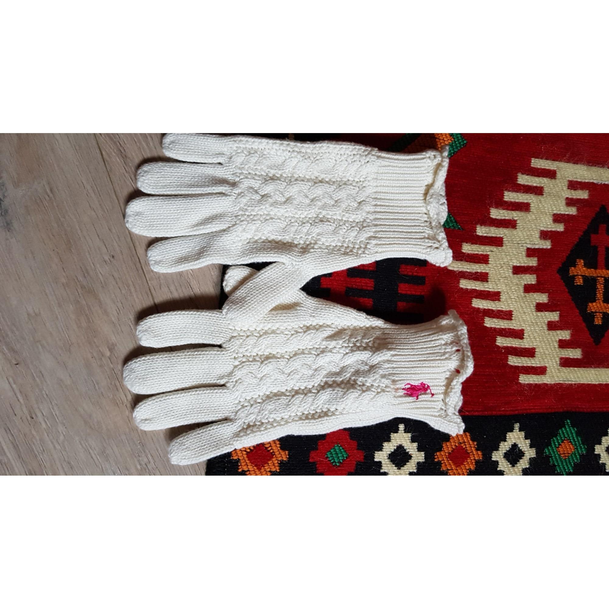 Handschuhe RALPH LAUREN Weiß, elfenbeinfarben