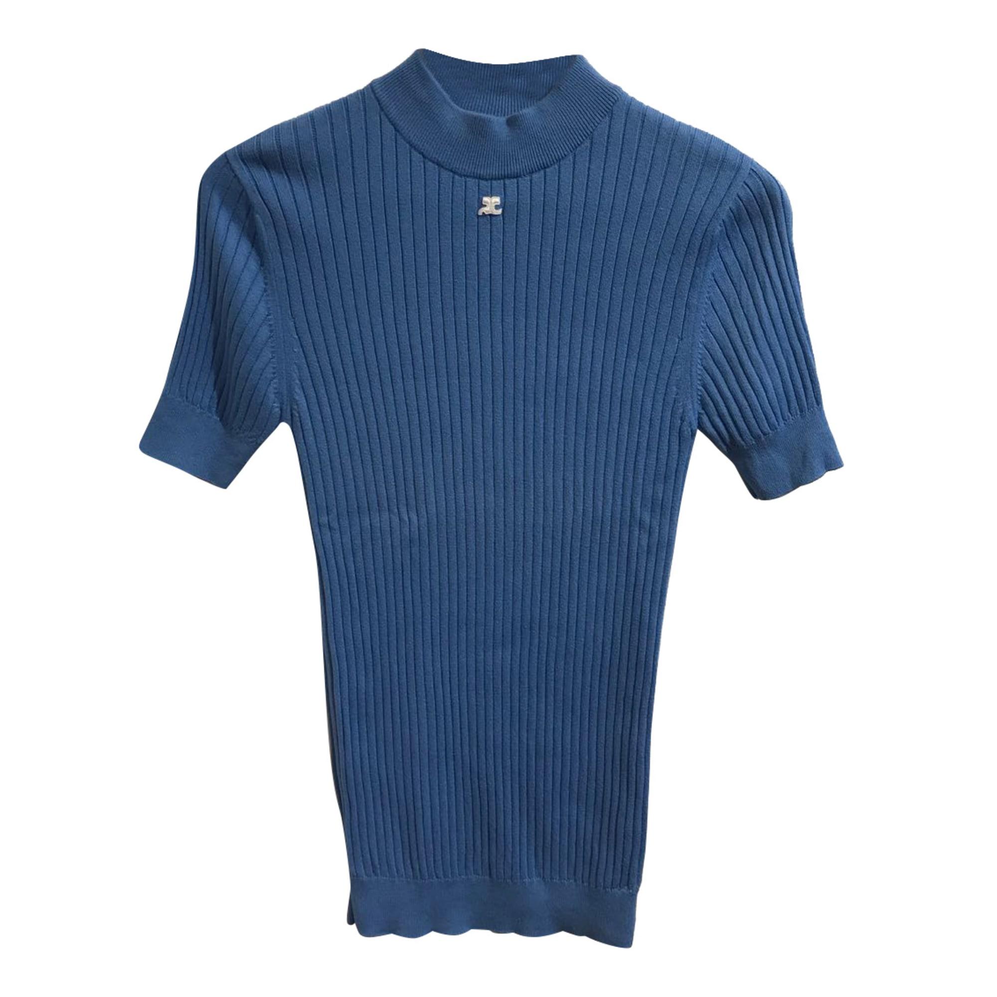 Pull COURRÈGES Bleu, bleu marine, bleu turquoise