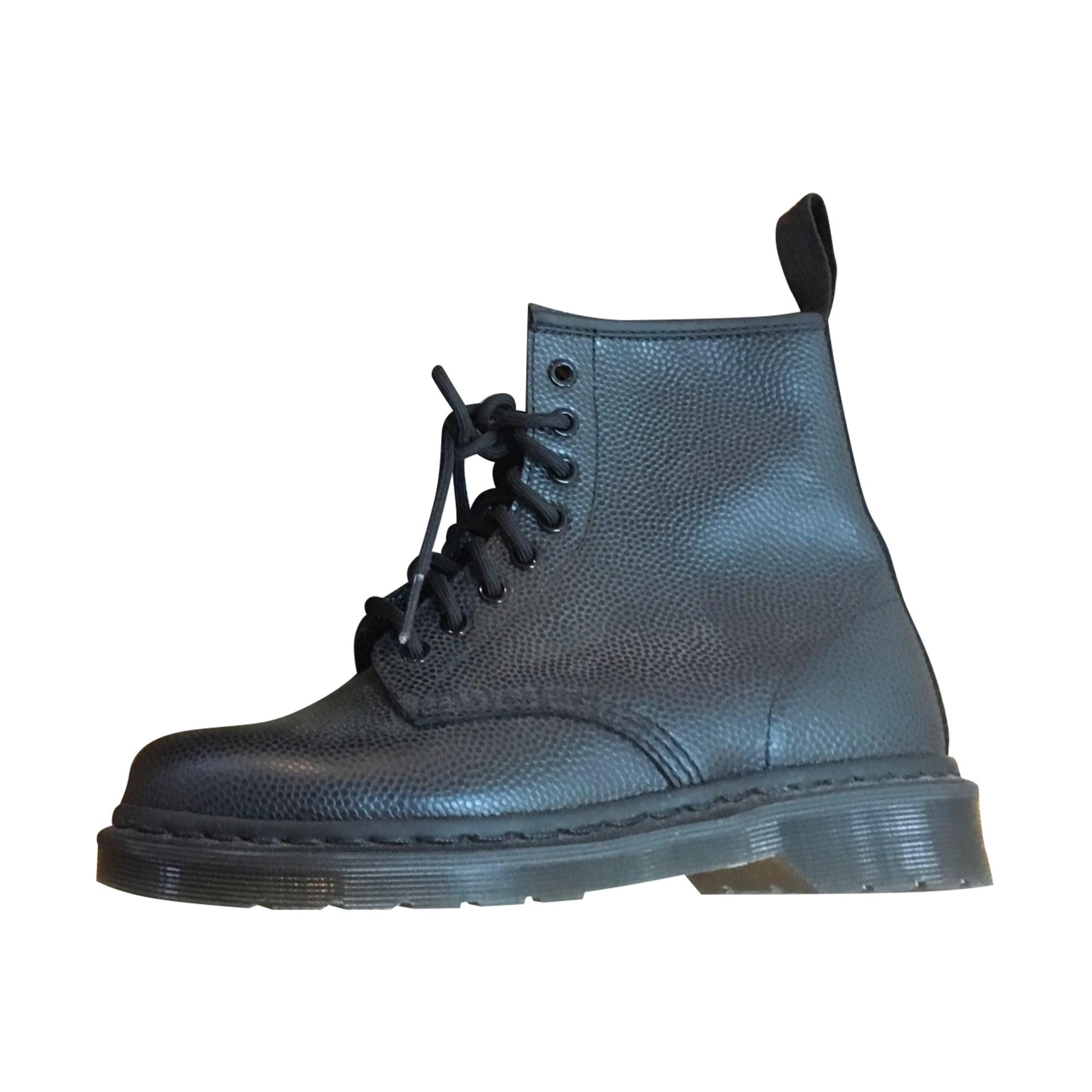 Bottines & low boots plates DR. MARTENS Noir