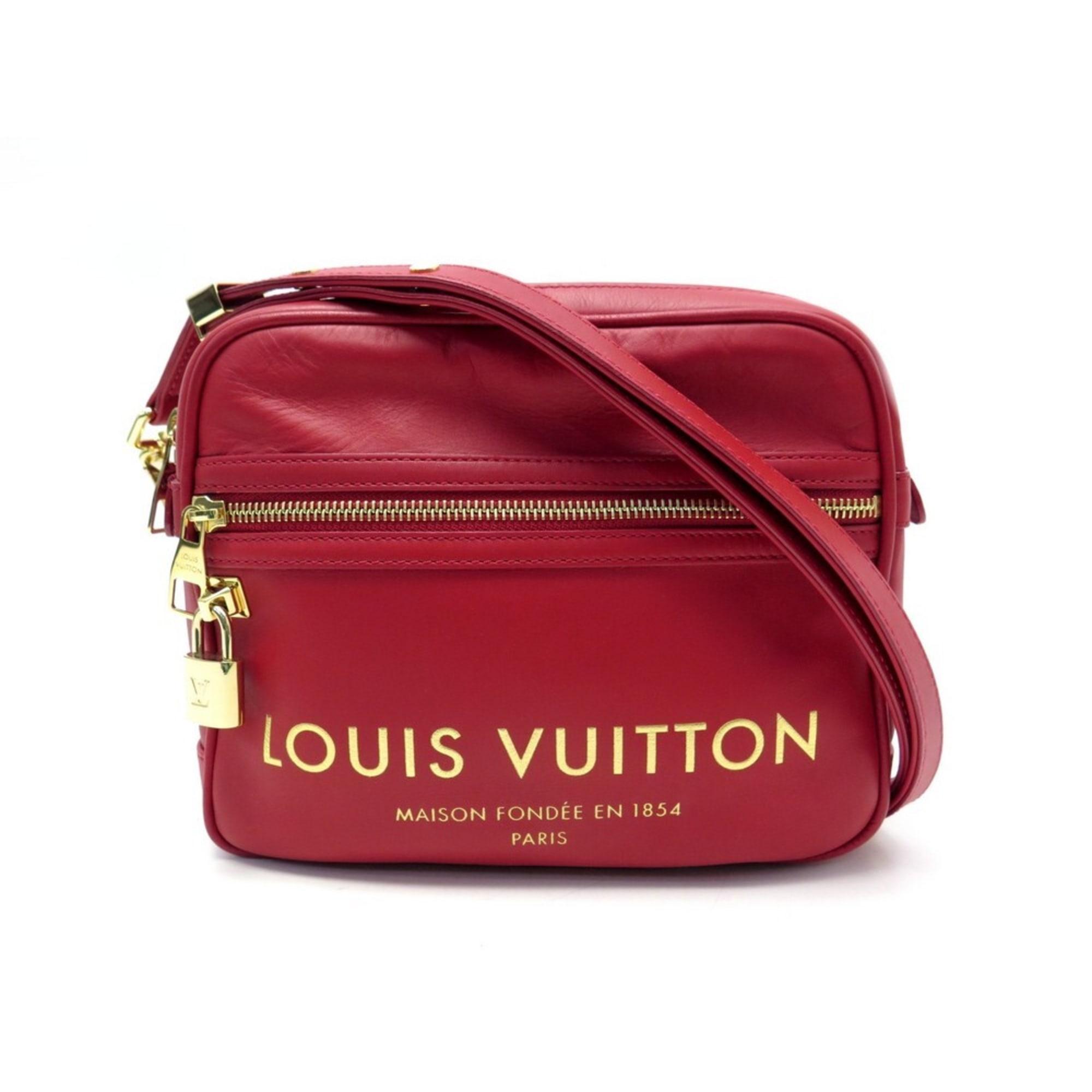 Lederhandtasche LOUIS VUITTON Rouge