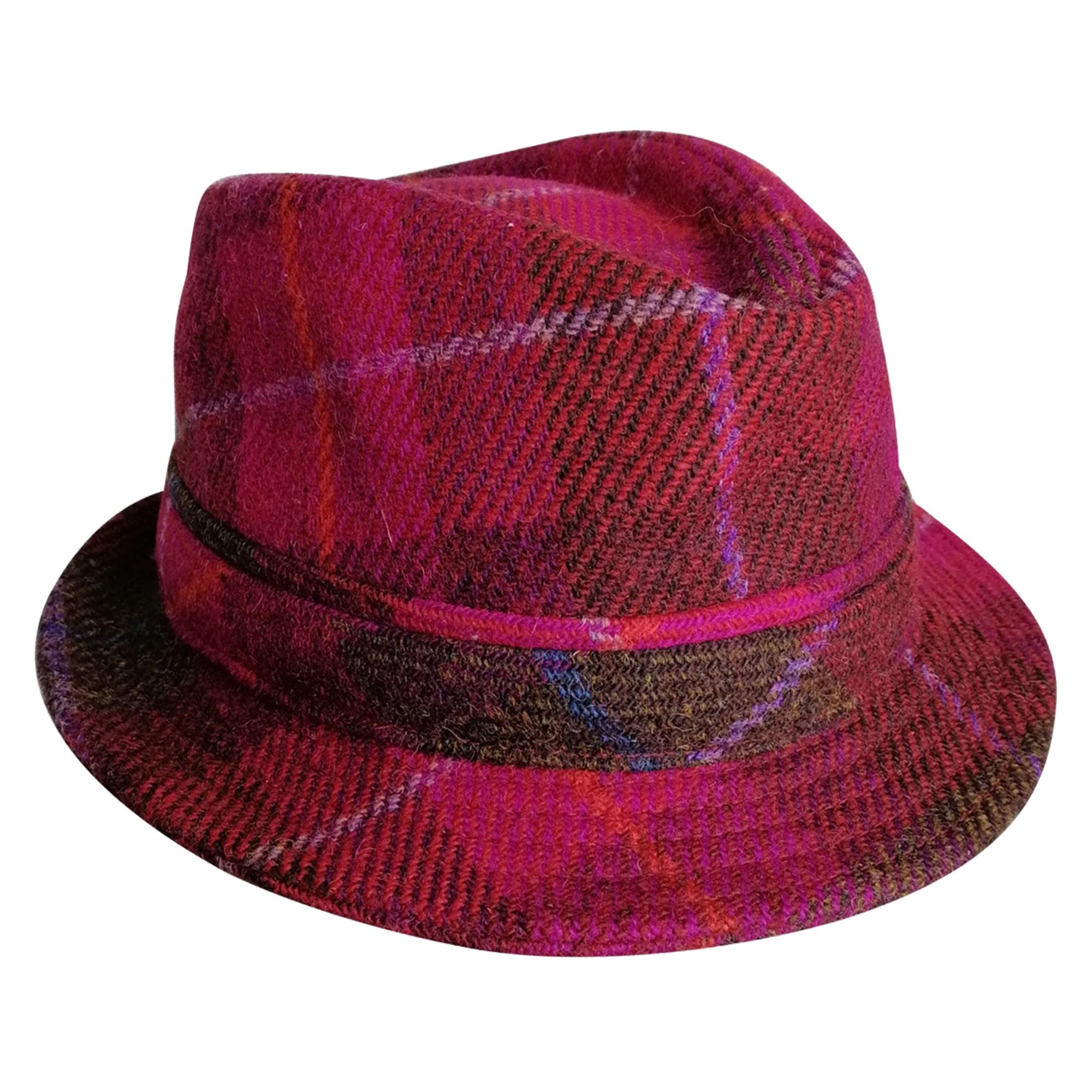 Chapeau HARRIS TWEED Rouge, bordeaux