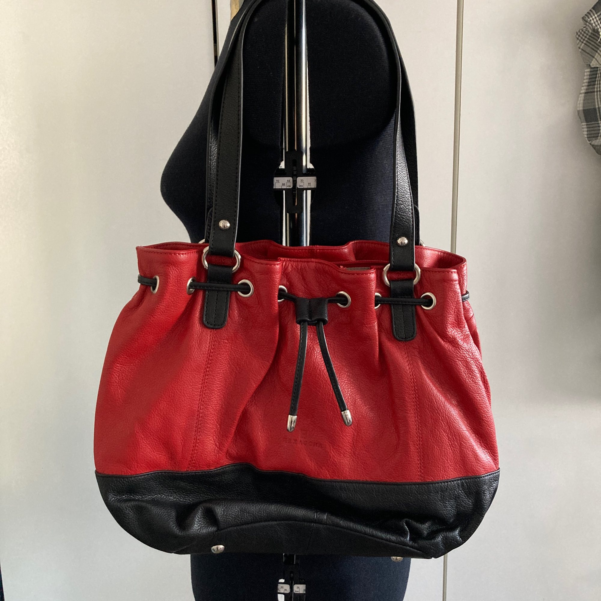 Lederhandtasche HEXAGONA Rot, bordeauxrot