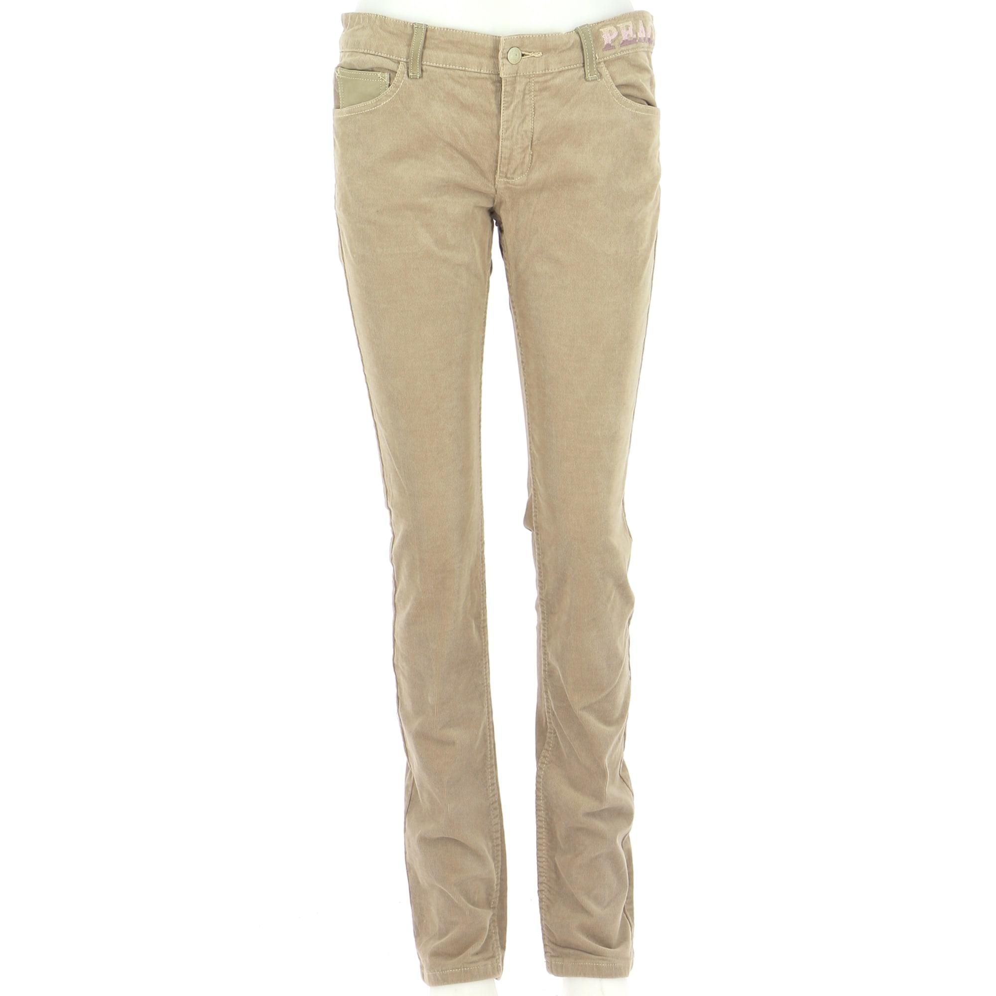 Pantalon droit ZADIG & VOLTAIRE Beige, camel
