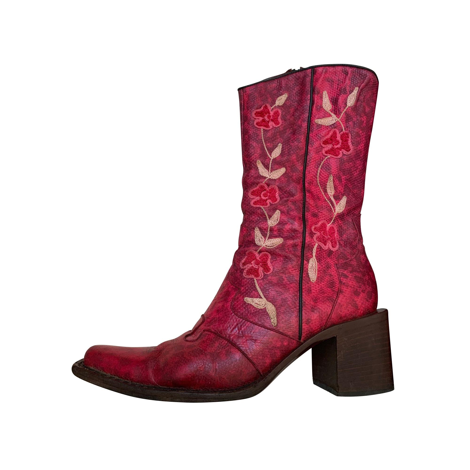 Cowboy Boots FREE LANCE Pink, fuchsia, light pink