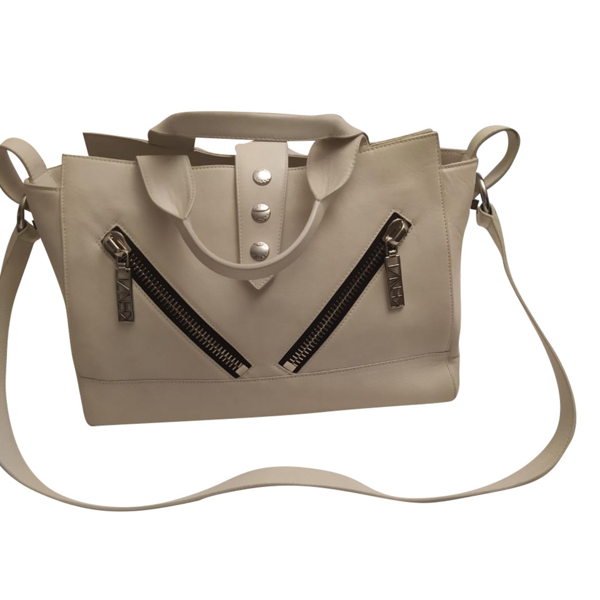 Lederhandtasche KENZO Weiß, elfenbeinfarben