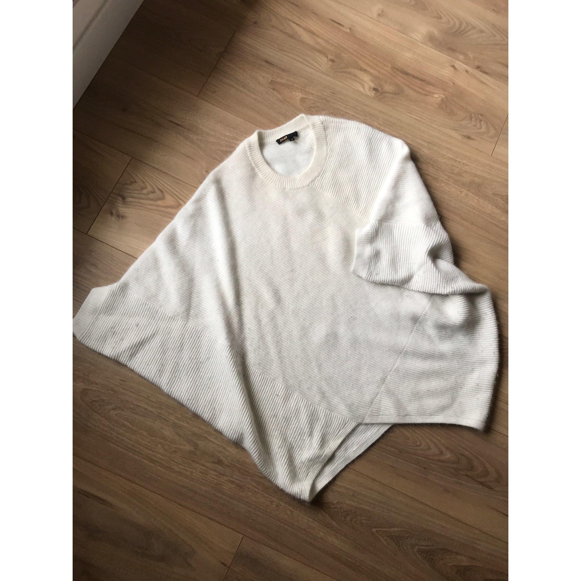 Pull MAJE Blanc, blanc cassé, écru