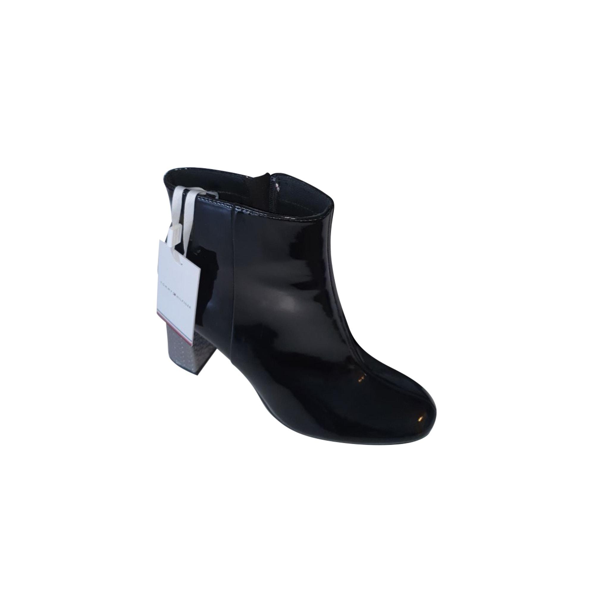 Bottines & low boots à talons TOMMY HILFIGER Noir