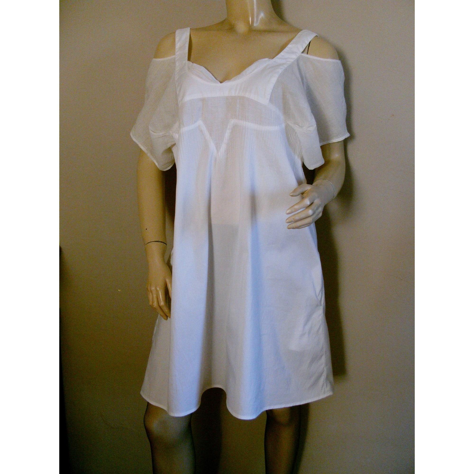 Robe tunique COTÉLAC Blanc, blanc cassé, écru