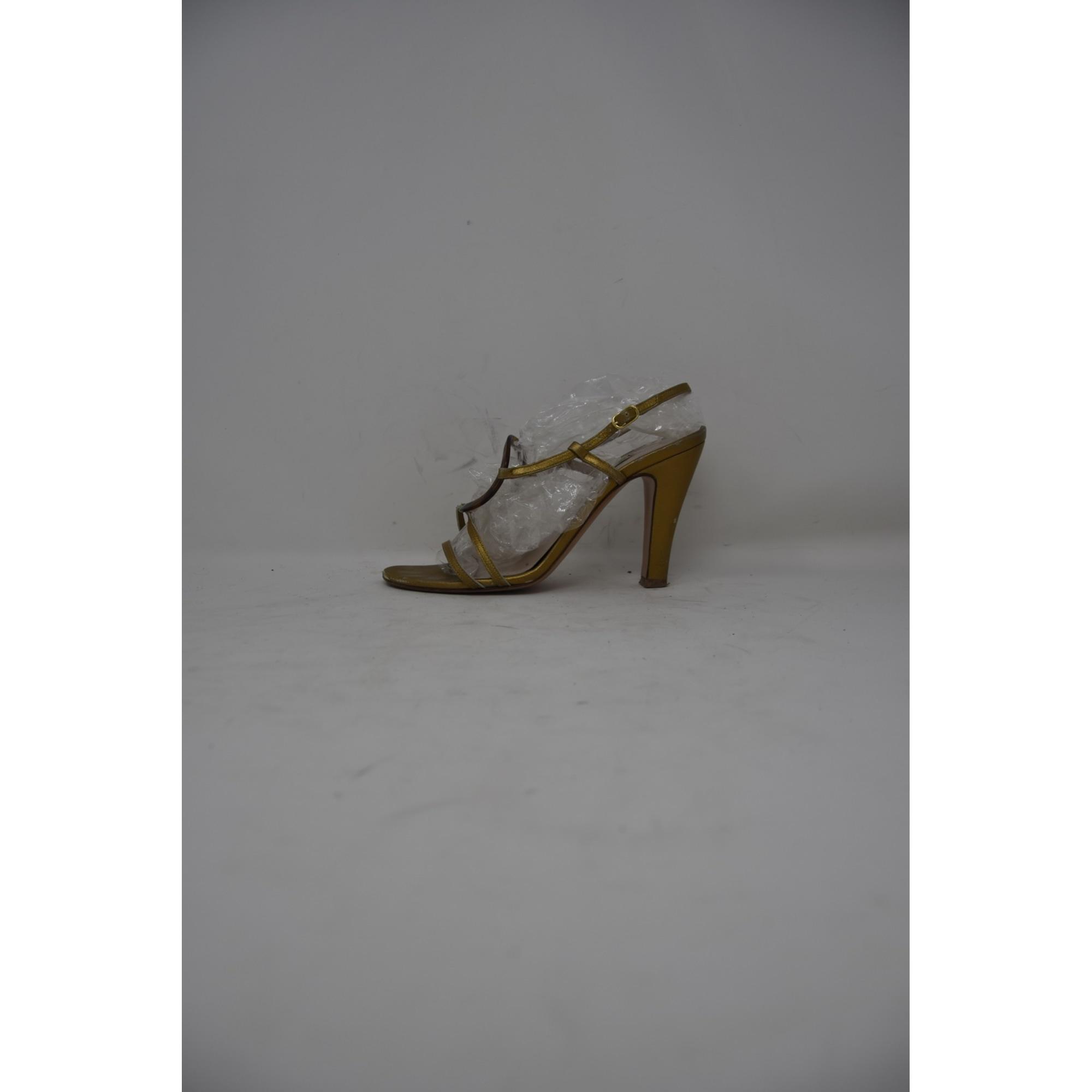 Sandales à talons L'AUTRE CHOSE Doré, bronze, cuivre