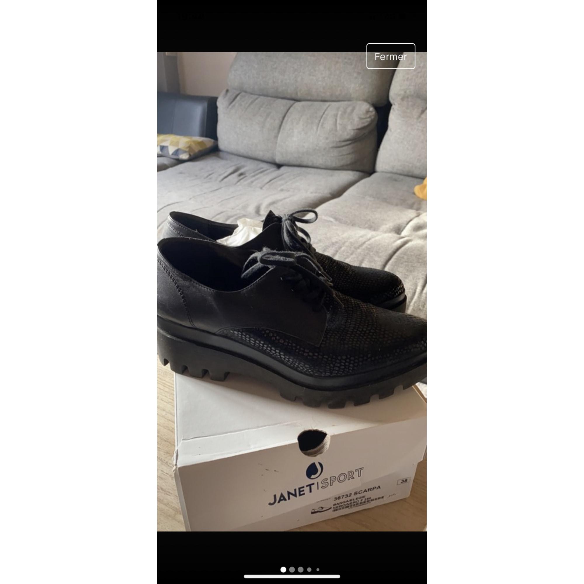 Chaussures à lacets  JANET & JANET Noir
